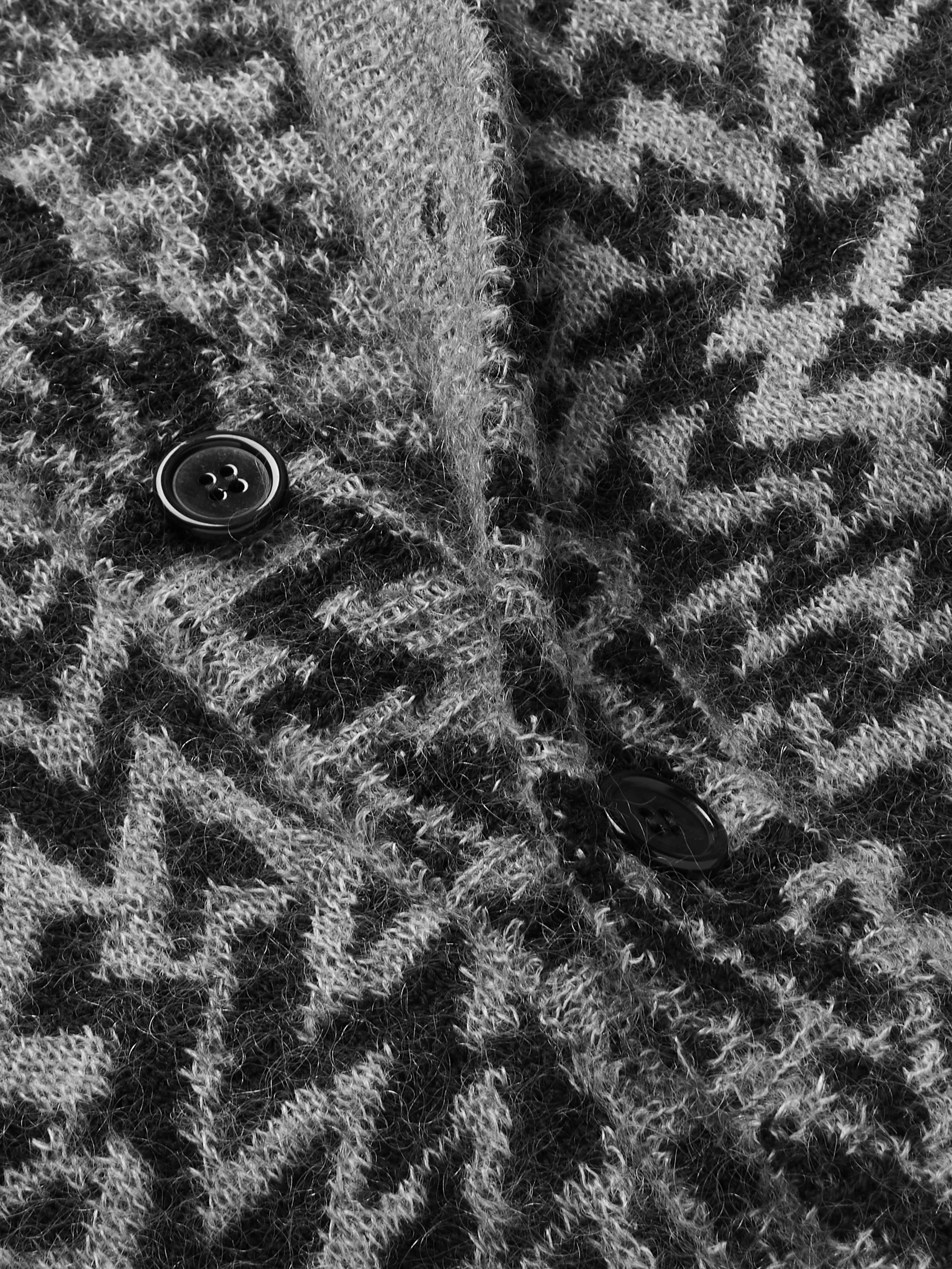 SAINT LAURENT Wool-Blend Jacquard Cardigan
