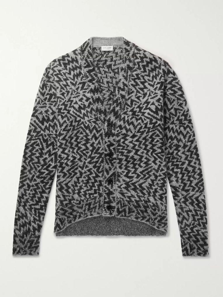 e0e907c17a Wool-Blend Jacquard Cardigan