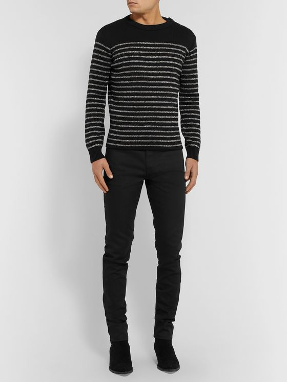SAINT LAURENT Skinny-Fit Raw Stretch-Denim Jeans