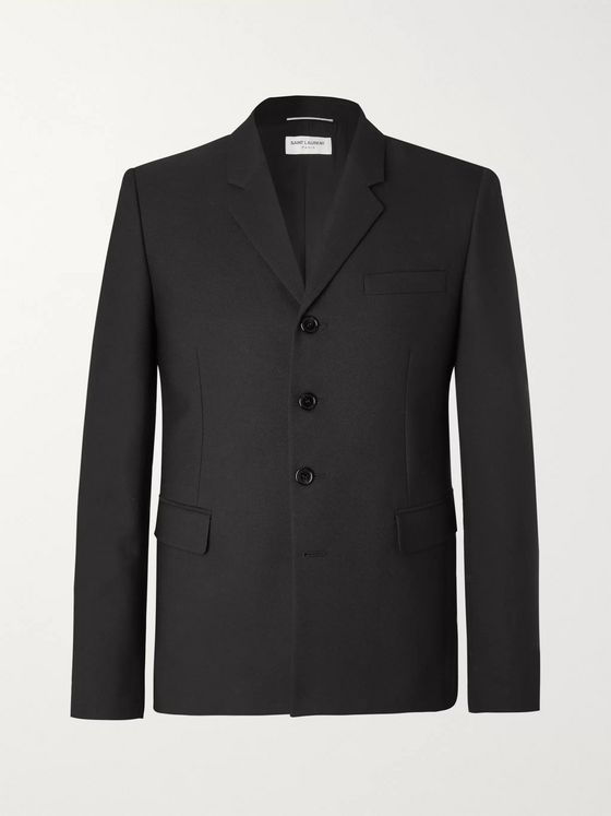 SAINT LAURENT Slim-Fit Wool and Mohair-Blend Blazer