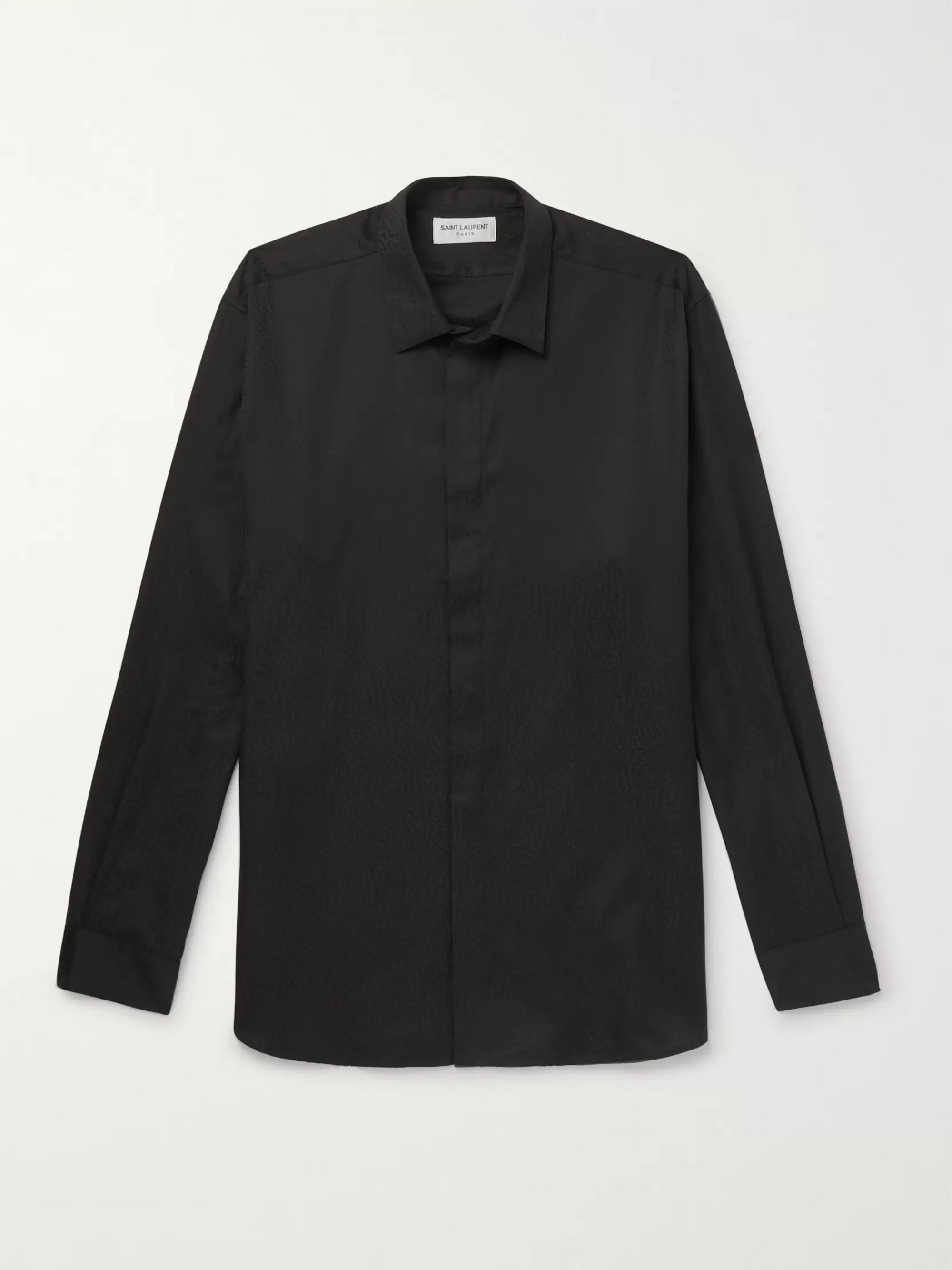 e207dc01419 SAINT LAURENT Cotton-Jacquard Shirt