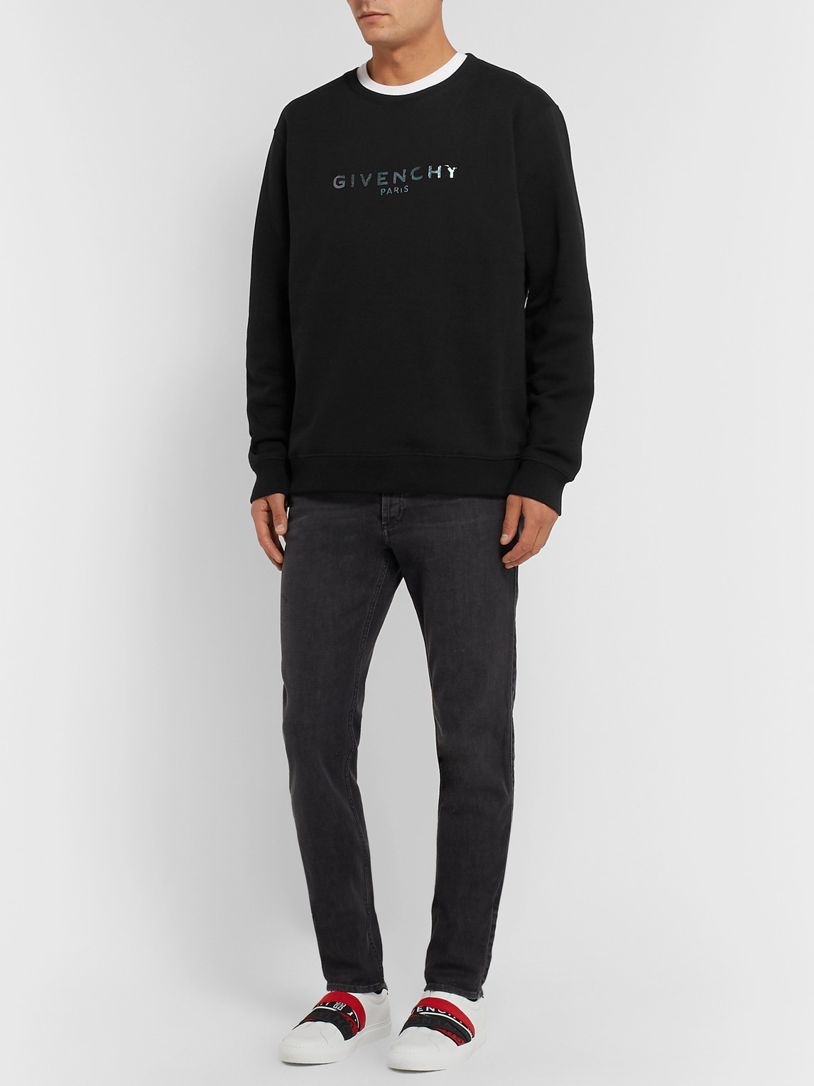 Givenchy Downs LOGO-PRINT LOOPBACK-COTTON JERSEY SWEATSHIRT