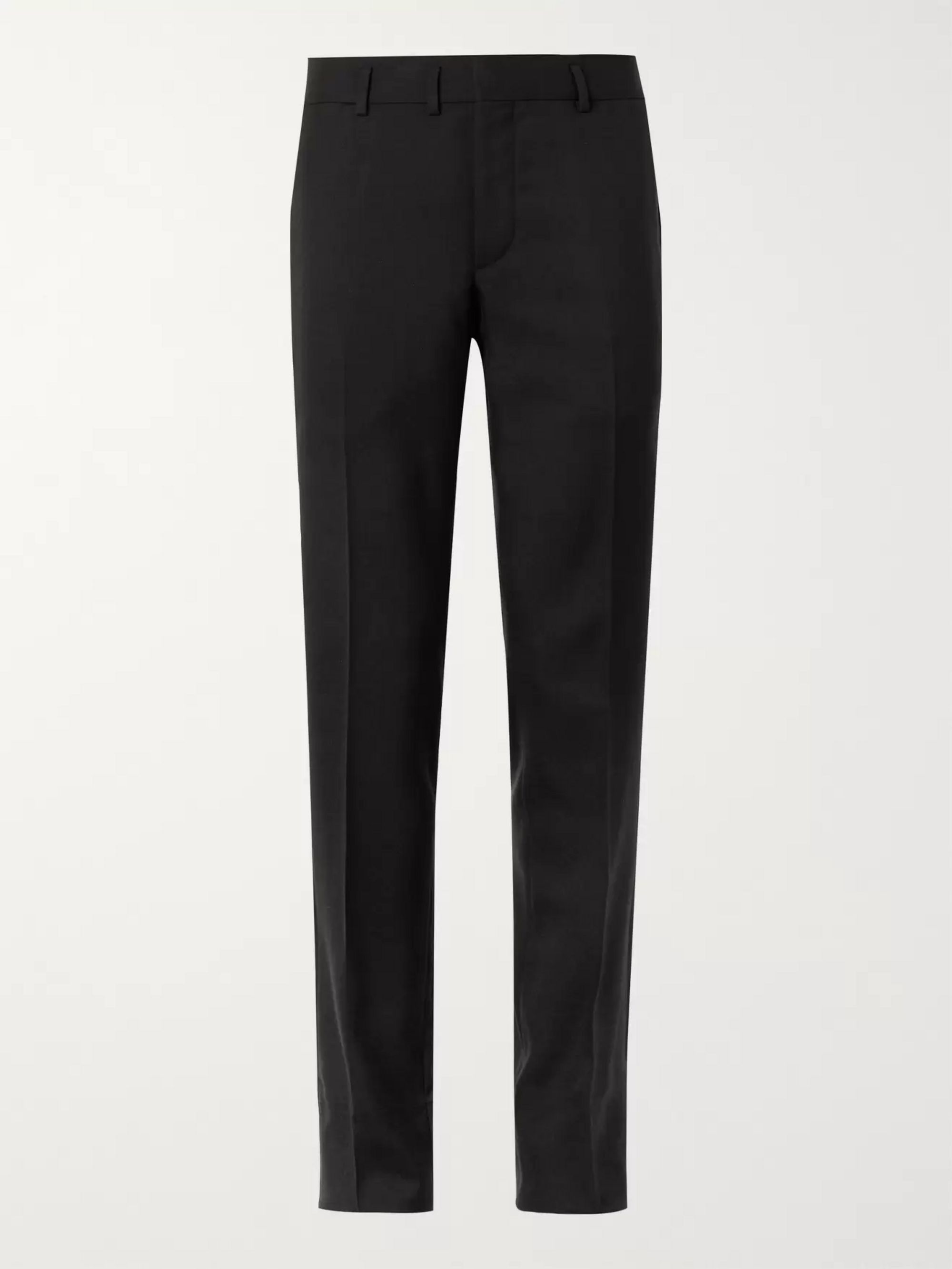 SAINT LAURENT Slim-Fit Virgin Wool-Gabardine Trousers