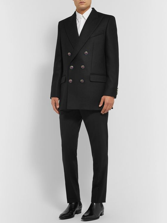Givenchy Black Double-Breasted Wool Blazer