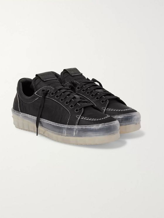 Rhude V1 Leather-Trimmed Shell Sneakers