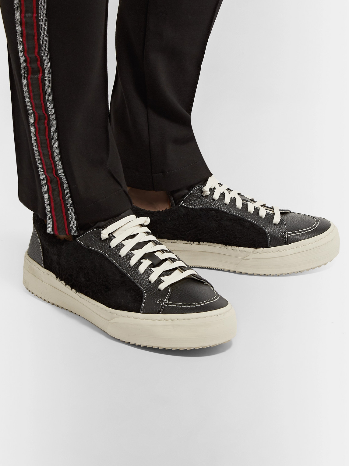 Rhude Sneakers RH V1 FULL-GRAIN LEATHER AND SUEDE SNEAKERS