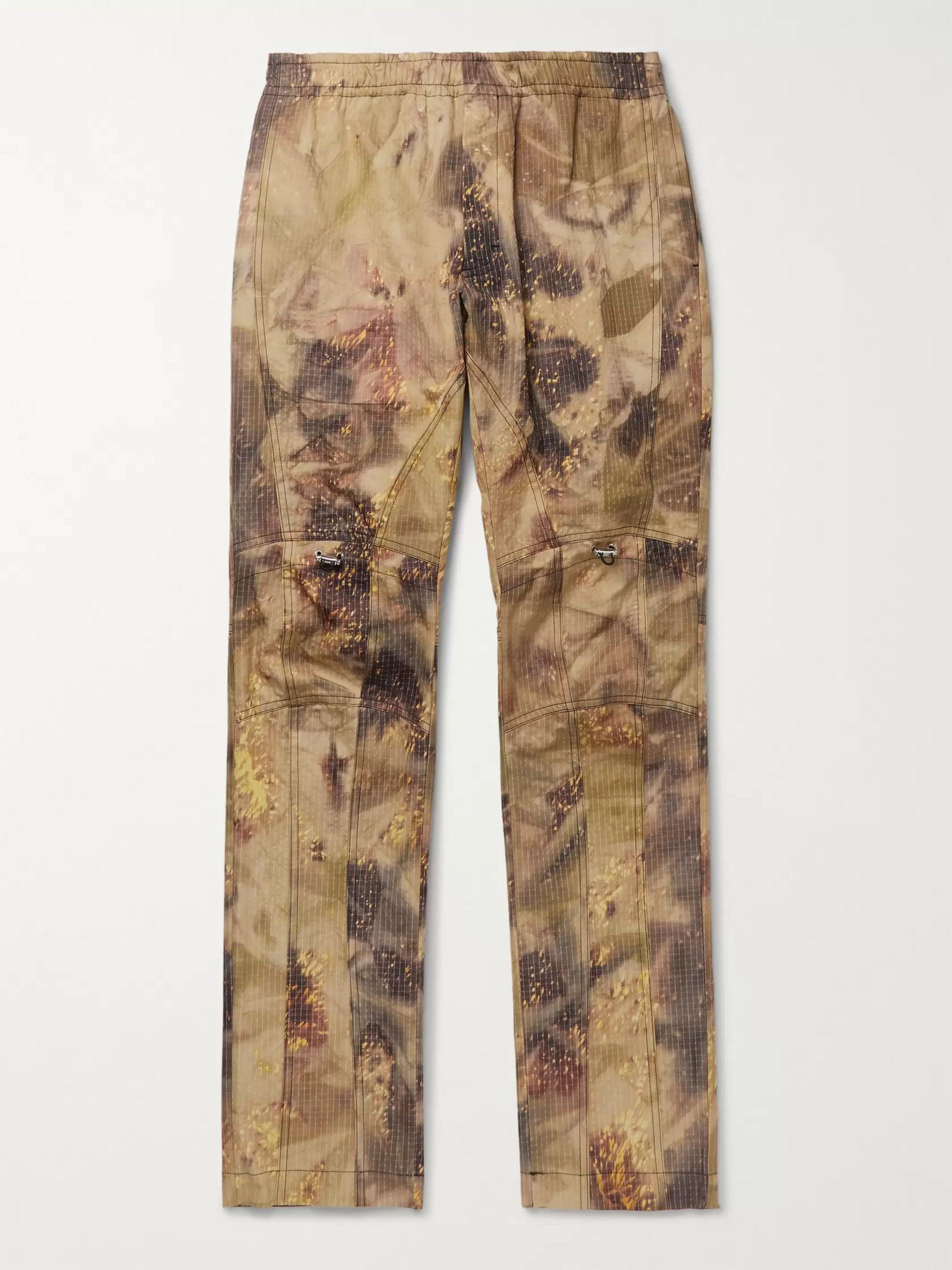 Slim Fit Tapered Camouflage Print Cotton Blend Ripstop Trousers by Mr Porter