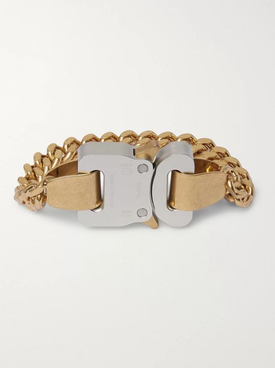 1017 ALYX 9SM Gold and Silver-Tone Bracelet