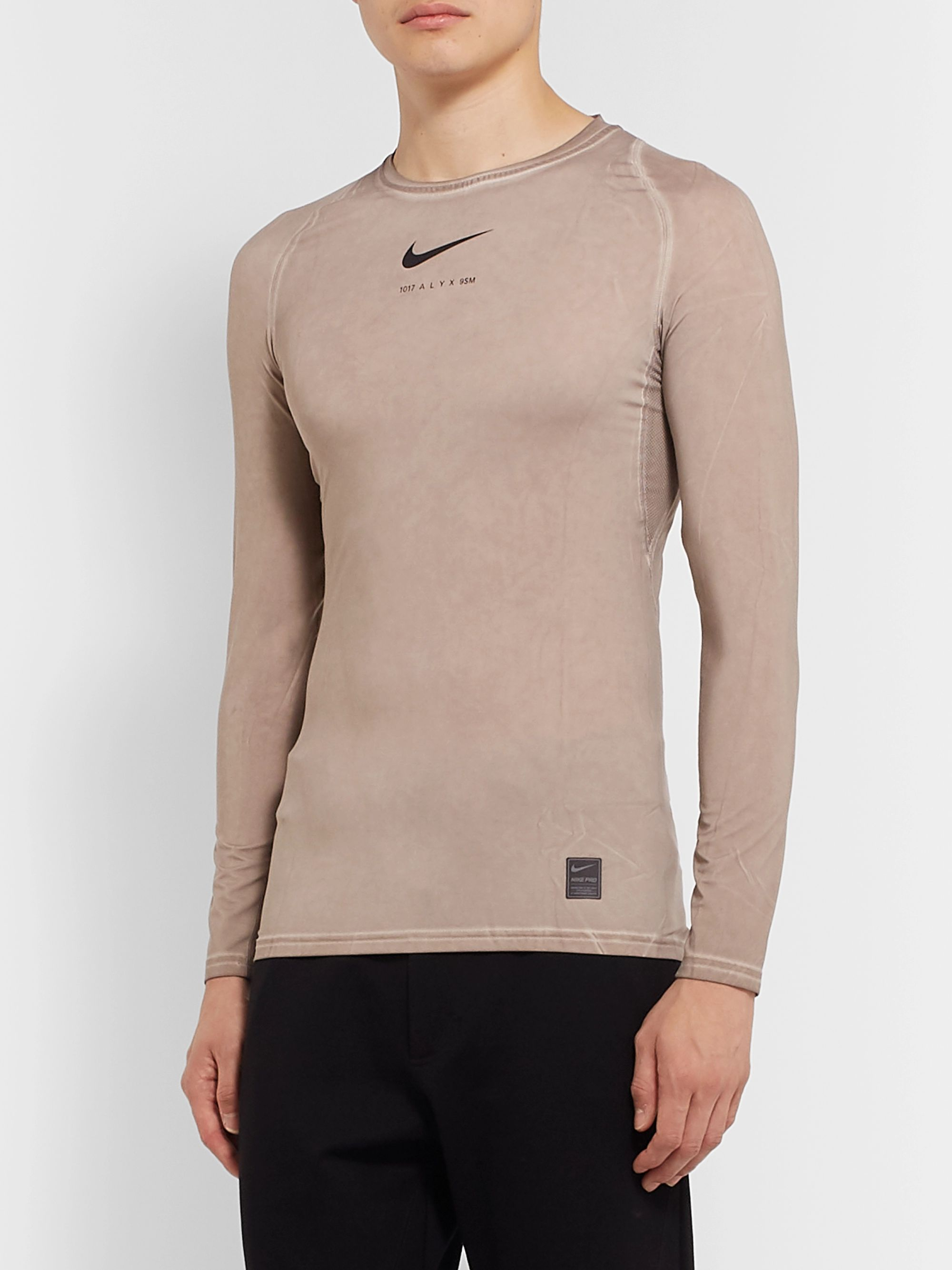 1017 ALYX 9SM + Nike Compression Mesh-Panelled Stretch-Jersey T-Shirt
