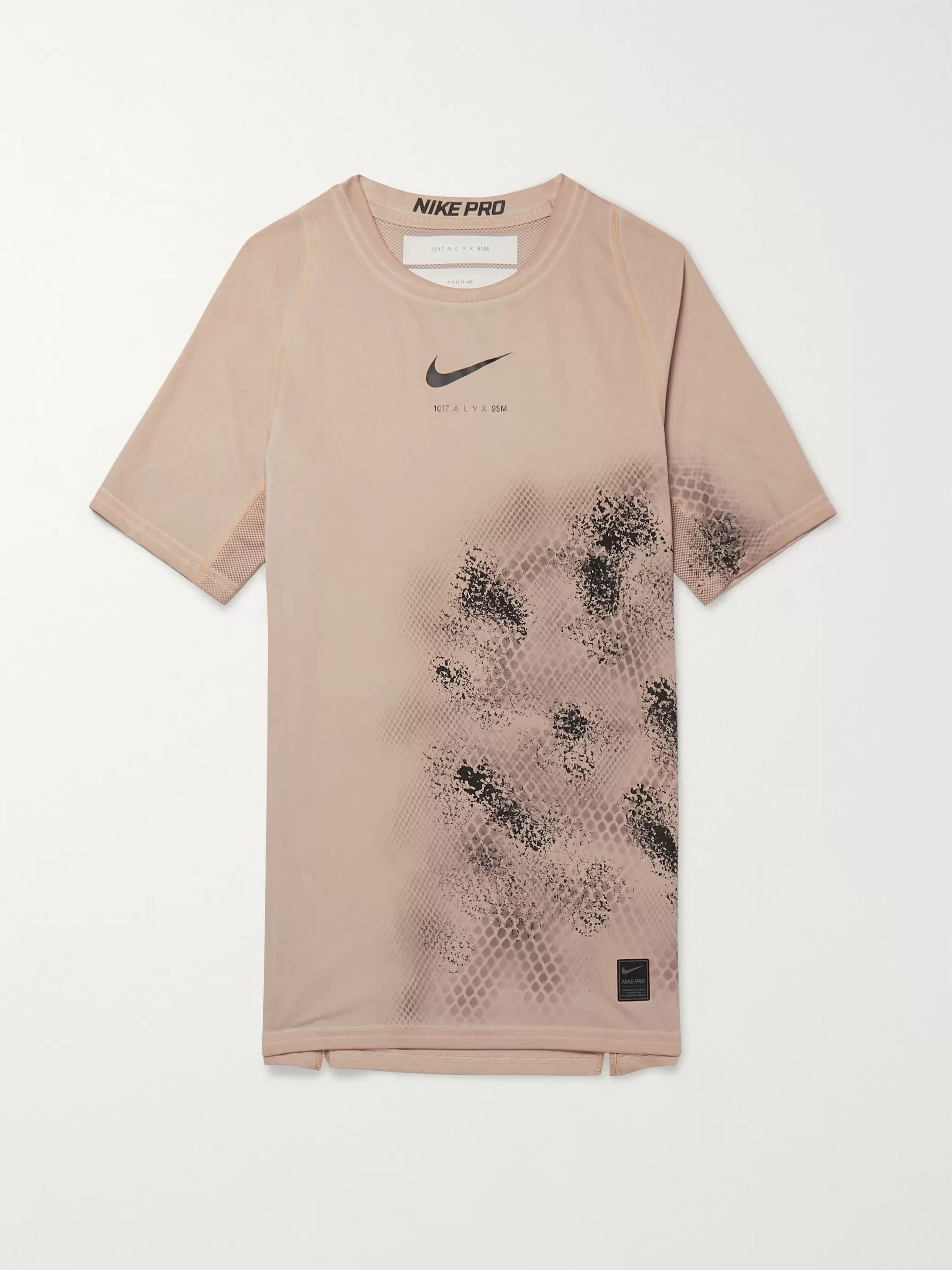 1017 ALYX 9SM + Nike Compression Printed Mesh-Panelled Stretch-Jersey T-Shirt
