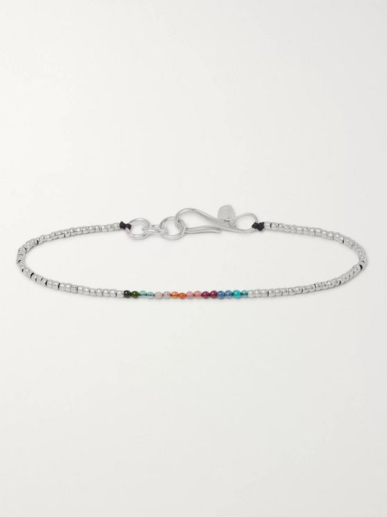 Paul Smith Bead and Silver-Tone Bracelet