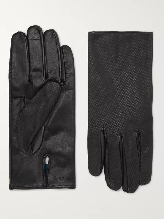 Paul Smith Textured-Leather Gloves