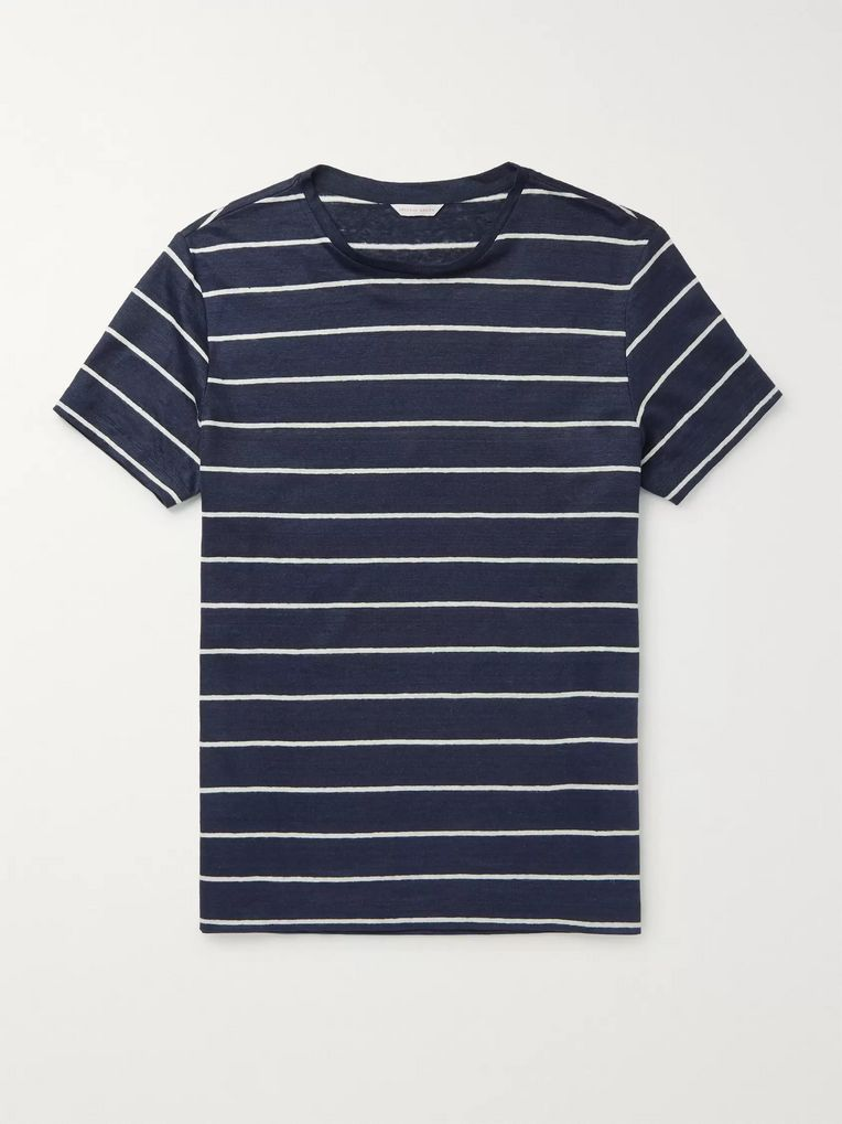 Orlebar Brown Sammy Striped Linen-Jersey T-Shirt