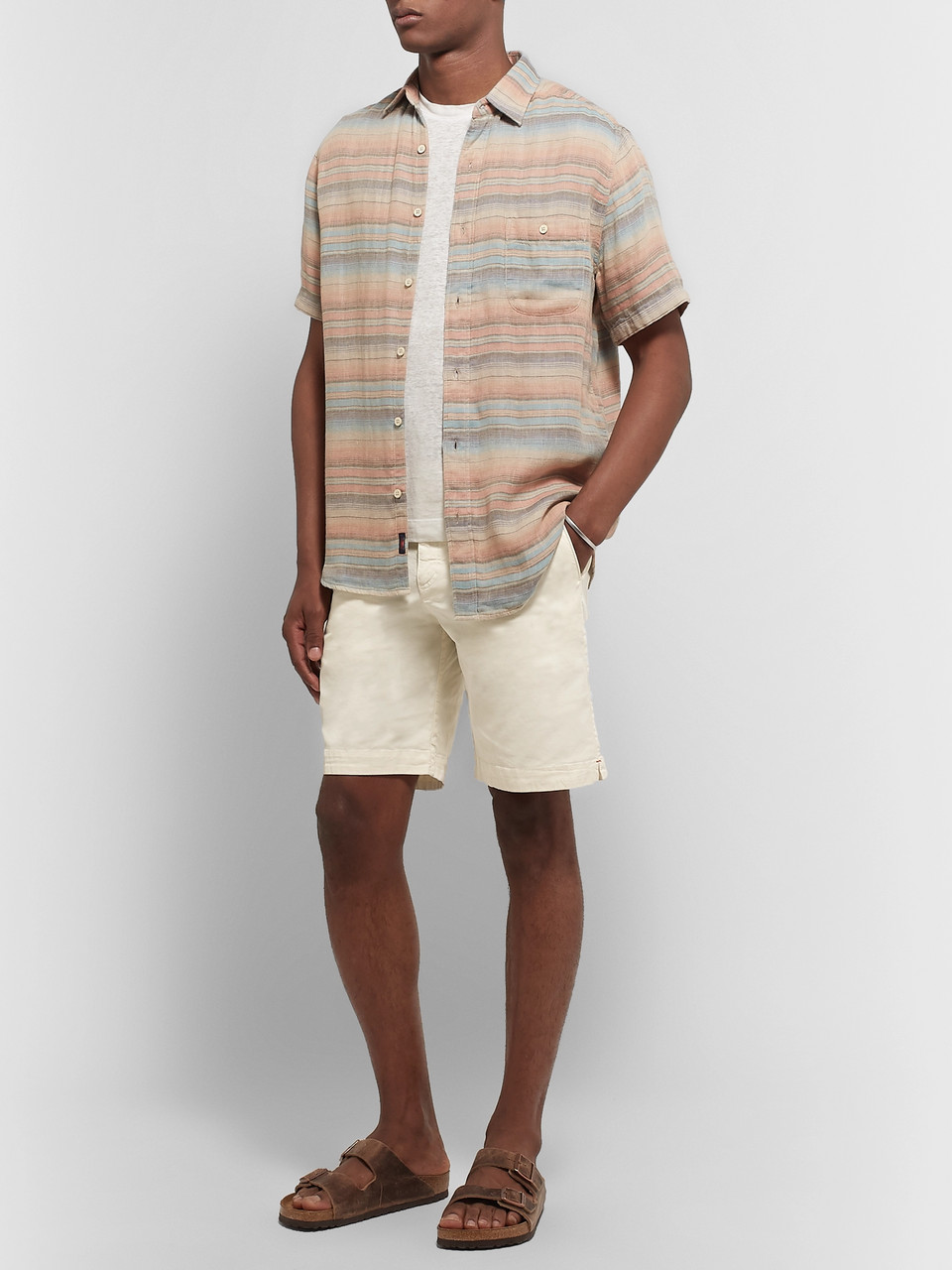 Orlebar Brown Dane Garment-Dyed Slim-Fit Stretch-Cotton Twill Shorts
