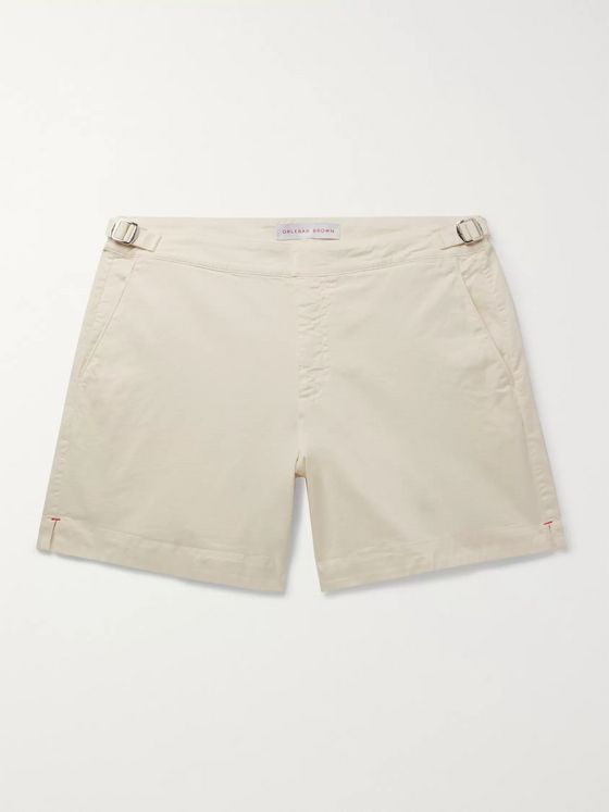 Orlebar Brown Bulldog Garment-Dyed Stretch-Organic Cotton Twill Shorts