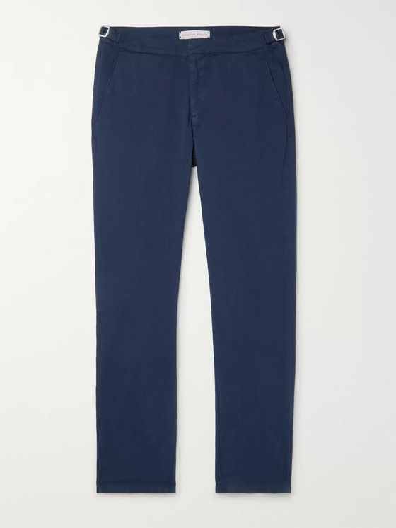 Orlebar Brown Navy Campbell Cotton-Blend Twill Trousers