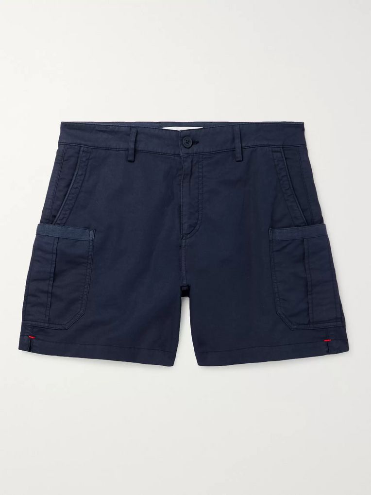 Orlebar Brown Bulldog Stretch Linen and Cotton-Blend Twill Cargo Shorts