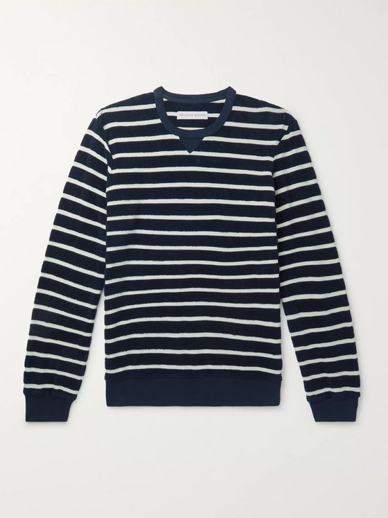 Orlebar Brown Pierce Striped Cotton-Terry Sweatshirt