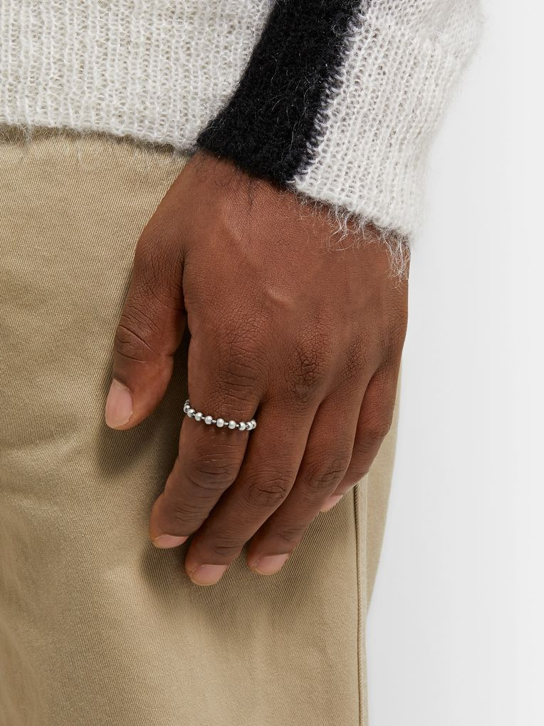 Off-White Silver-Tone Ring