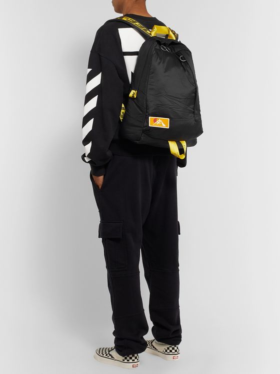 Off-White Easy Webbing-Trimmed Shell Backpack
