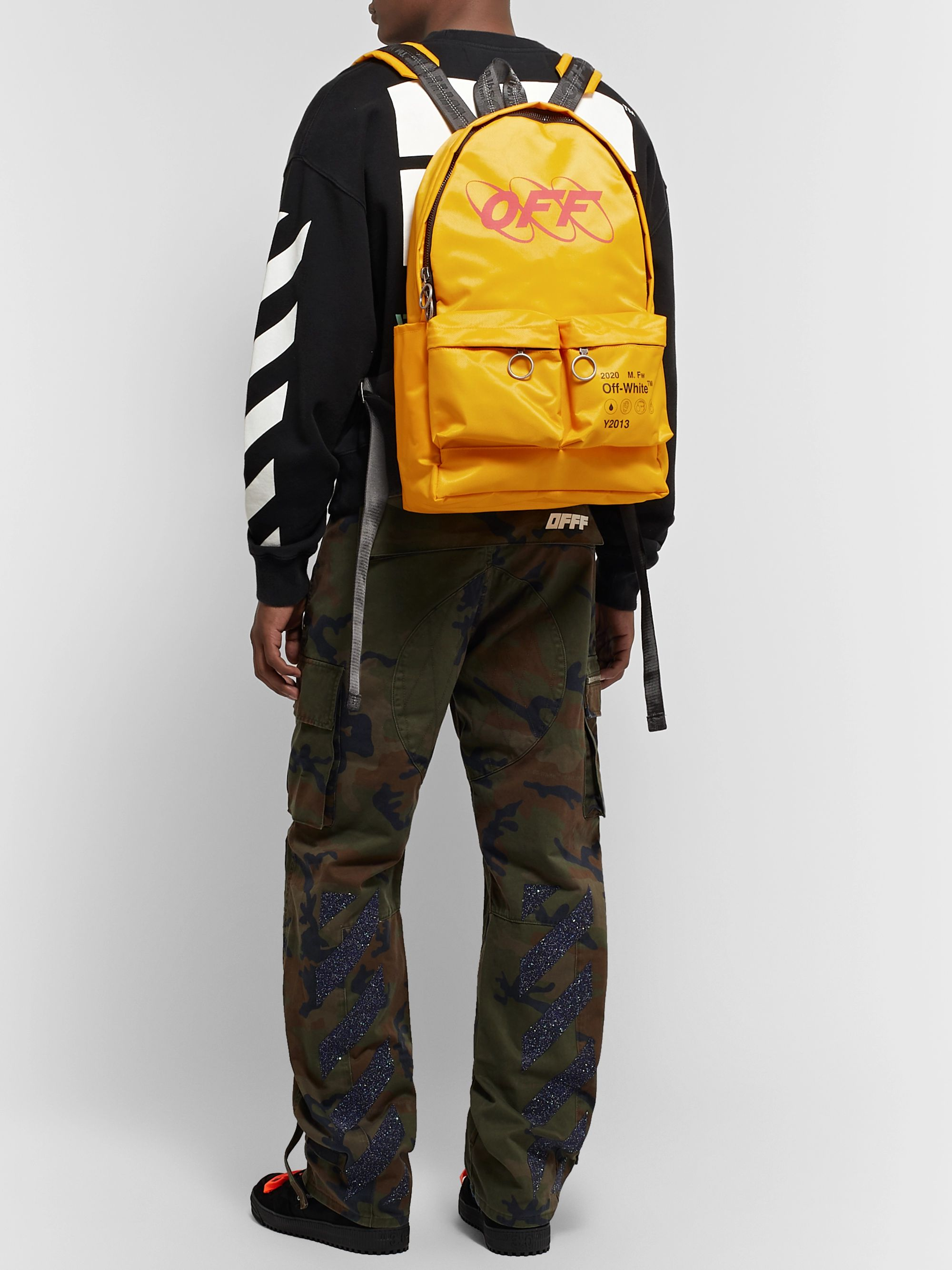 Off-White Y013 Logo-Print Shell Backpack