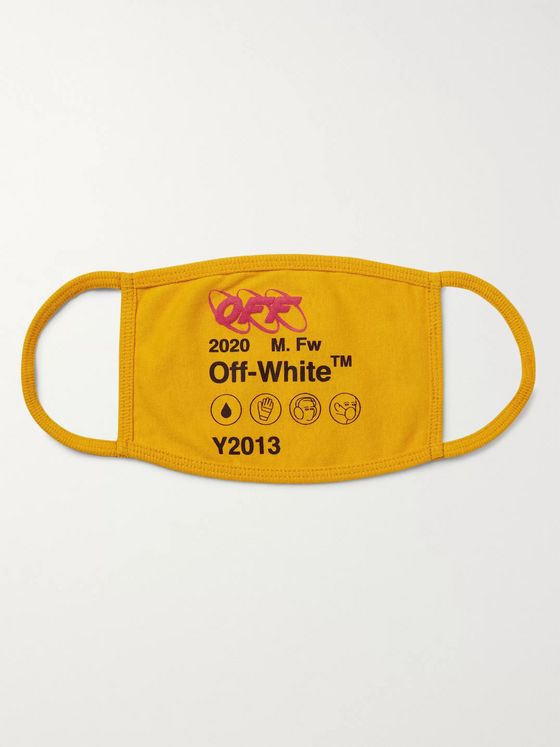 Off-White Industrial Logo-Print Cotton Mask