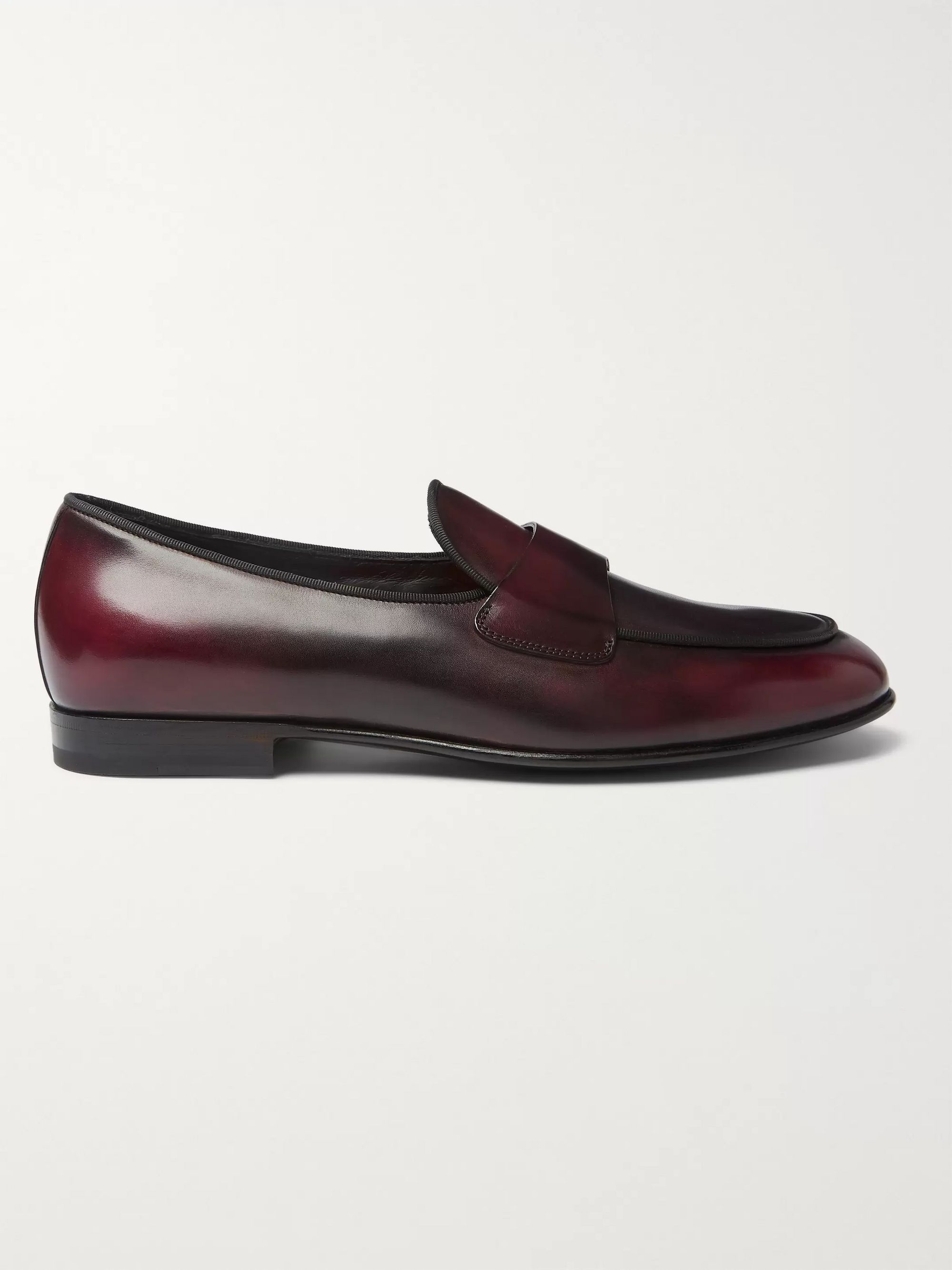 Santoni Polished-Leather Loafers