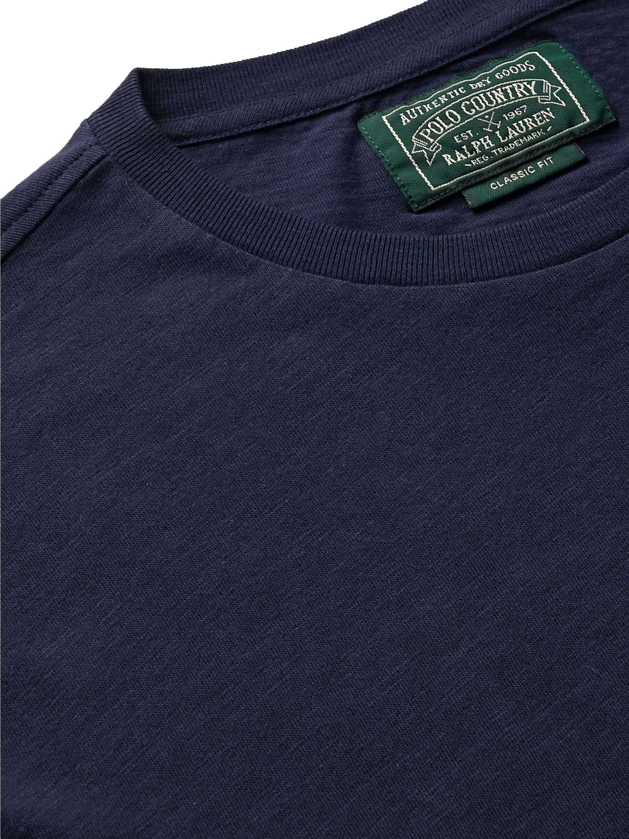 Polo Ralph Lauren Sportsman Logo-Appliquéd Printed Cotton-Jersey T-Shirt