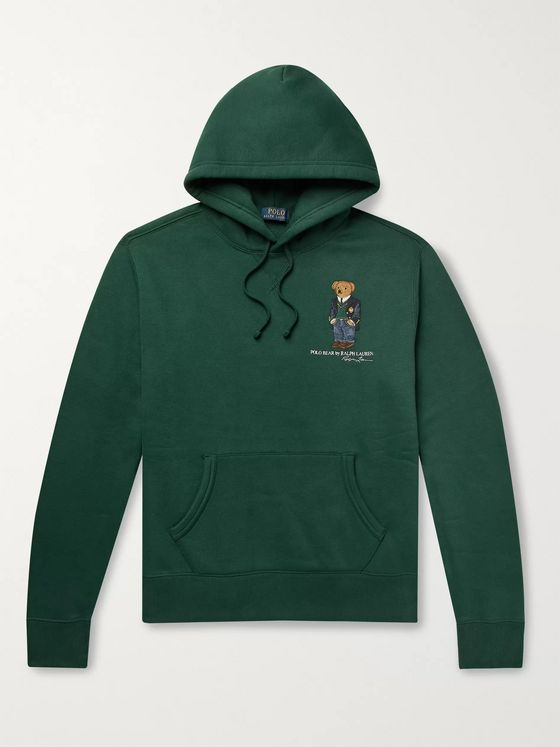Polo Ralph Lauren Logo-Embroidered Fleece-Back Cotton-Jersey Hoodie