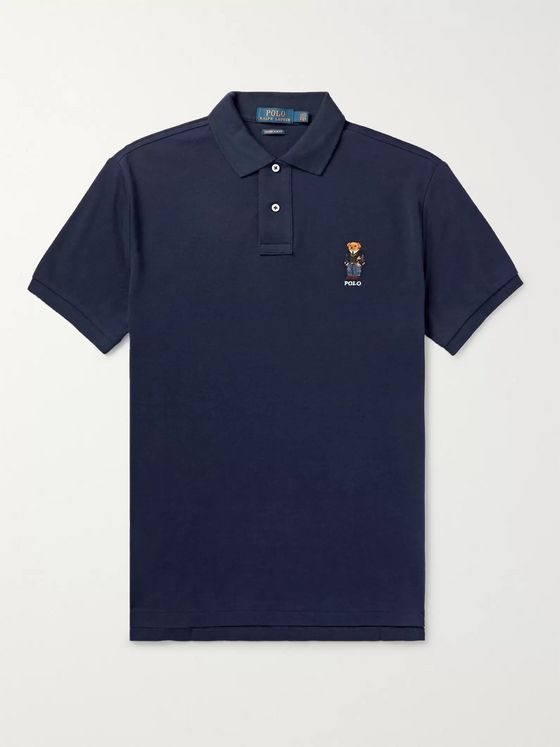 Polo Ralph Lauren Slim-Fit Embroidered Cotton-Piqué Polo Shirt