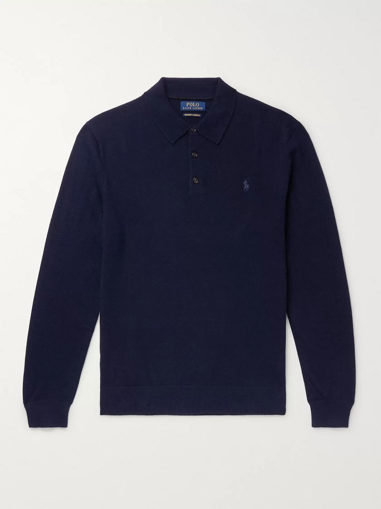 Polo Ralph Lauren Logo-Embroidered Cashmere Polo Shirt