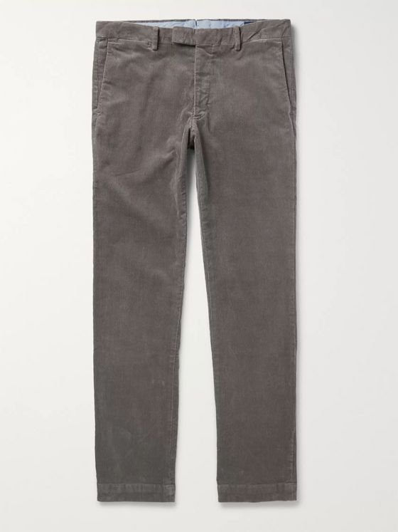 Polo Ralph Lauren Grey Cotton-Blend Corduroy Trousers