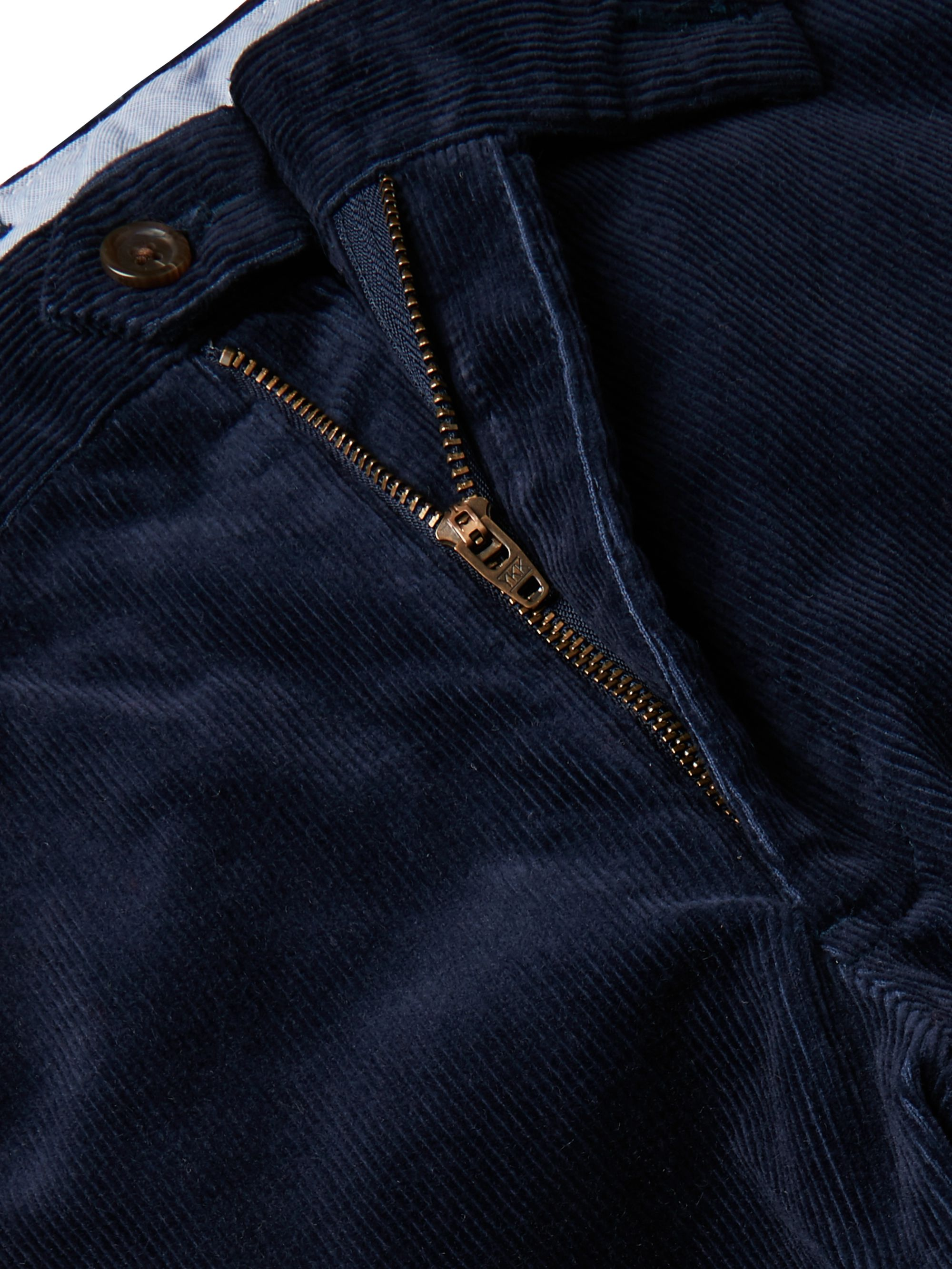 Polo Ralph Lauren Navy Cotton-Blend Corduroy Trousers