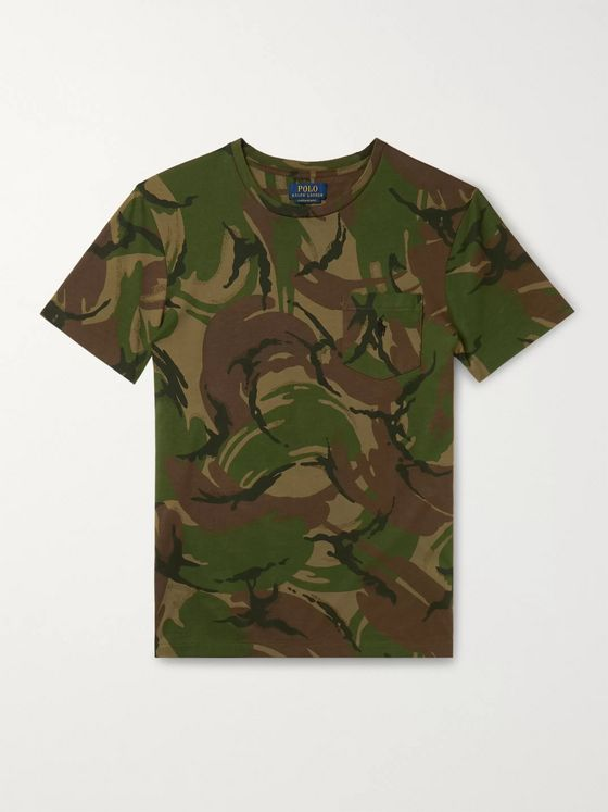 Polo Ralph Lauren Slim-Fit Camouflage-Print Cotton-Jersey T-Shirt