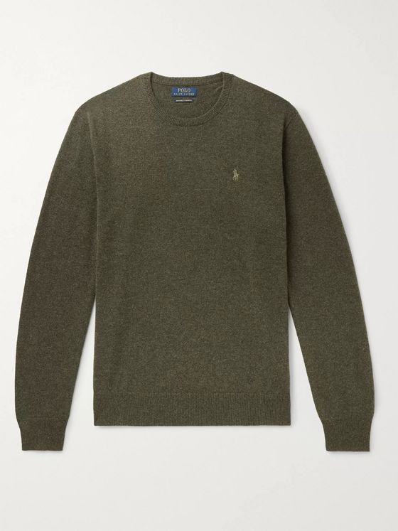 Polo Ralph Lauren Slim-Fit Mélange Cashmere Sweater