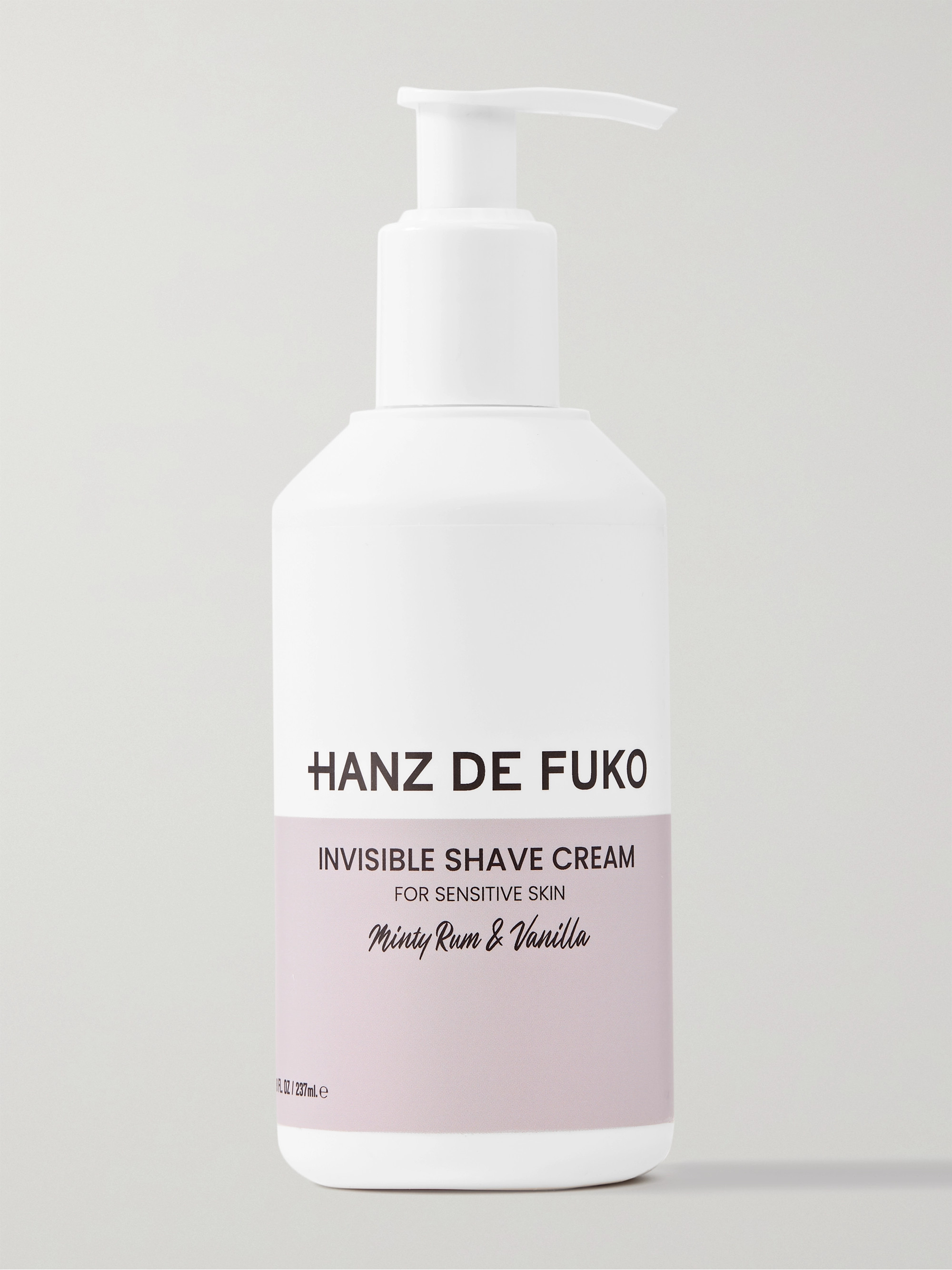Hanz De Fuko Invisible Shave Cream, 237ml
