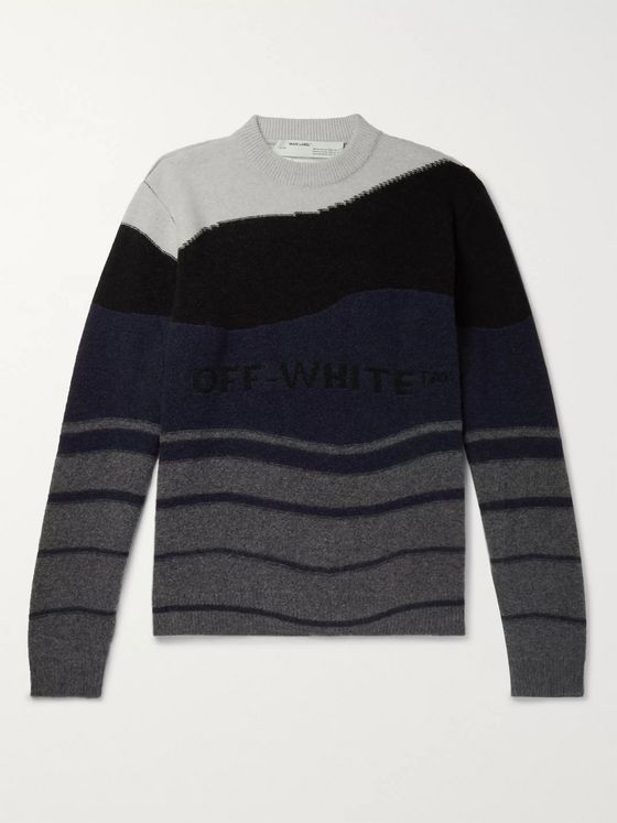 Off-White Logo-Intarsia Virgin Wool Sweater