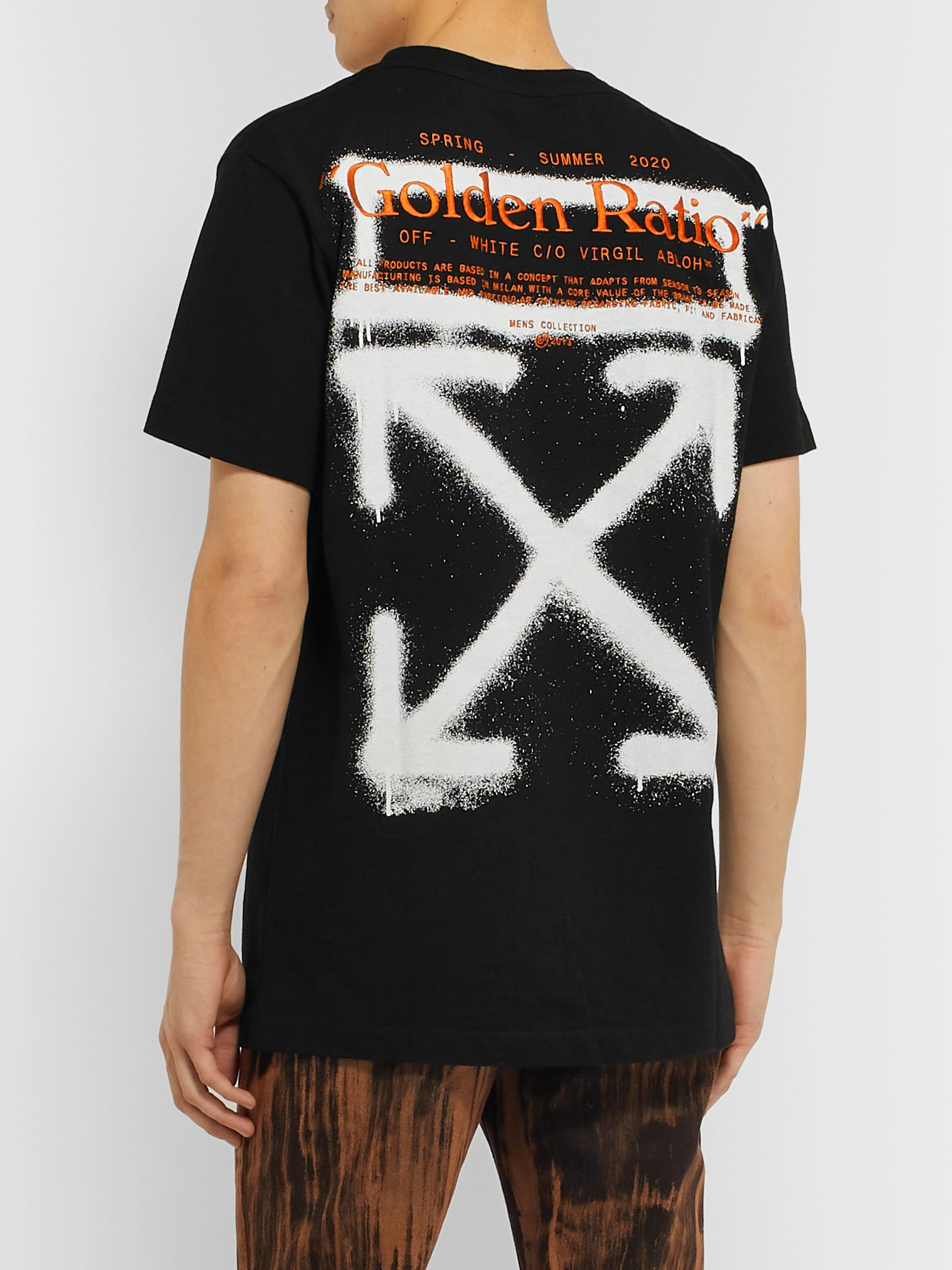 Off-White Slim-Fit Embroidered Logo-Print Cotton-Jersey T-Shirt