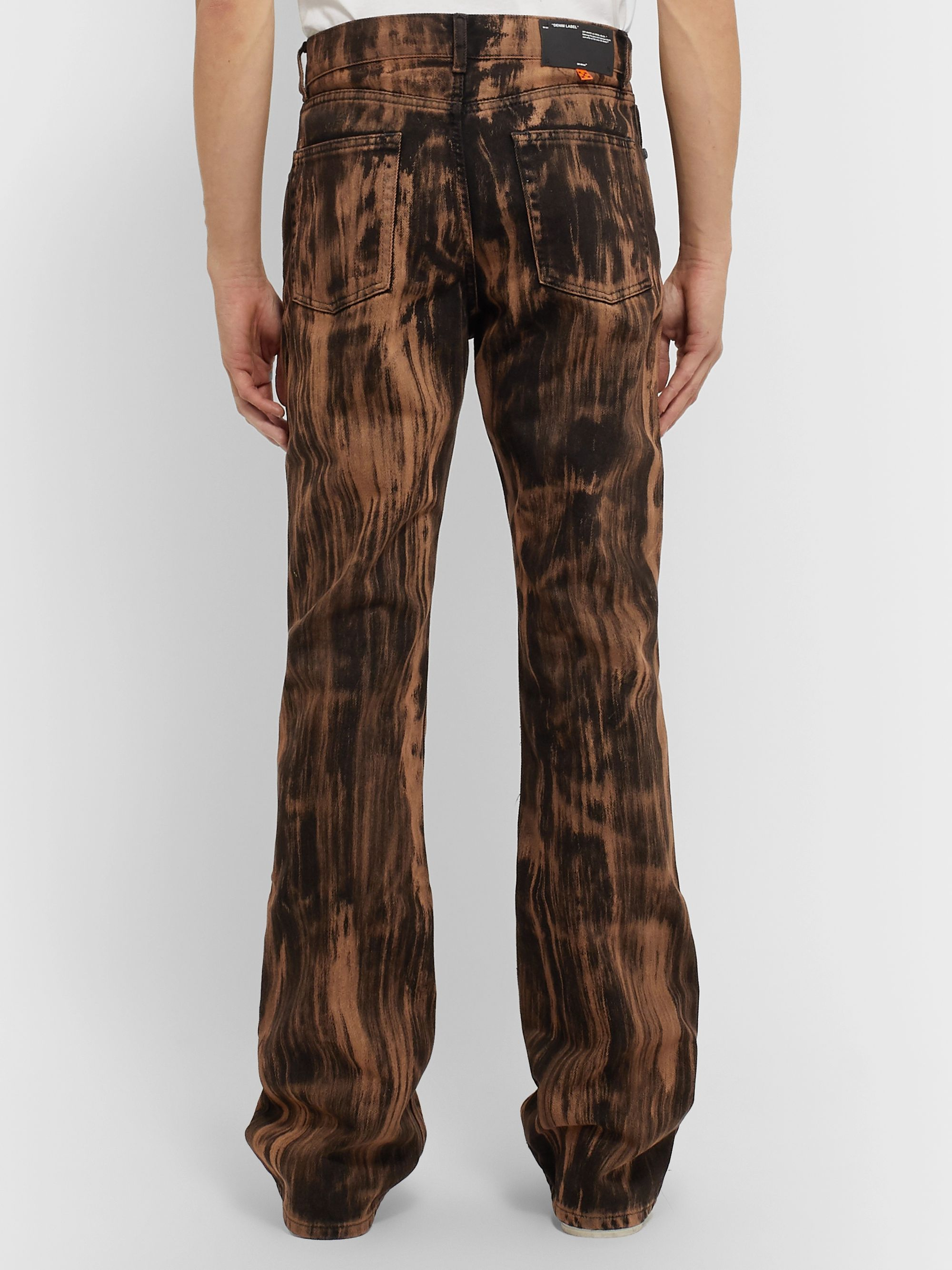 Off-White Printed Denim Jeans