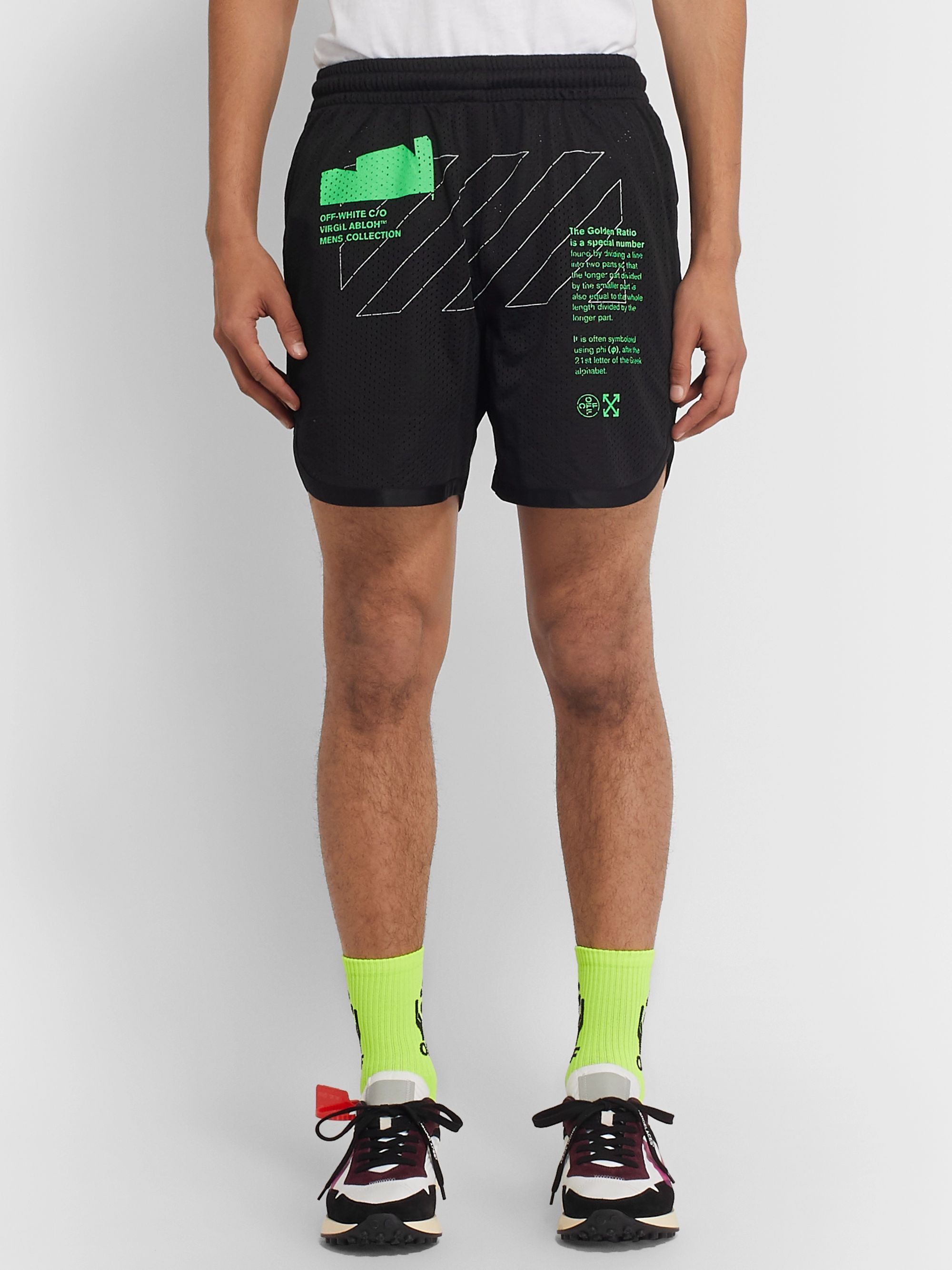 Off-White Printed Mesh Shorts