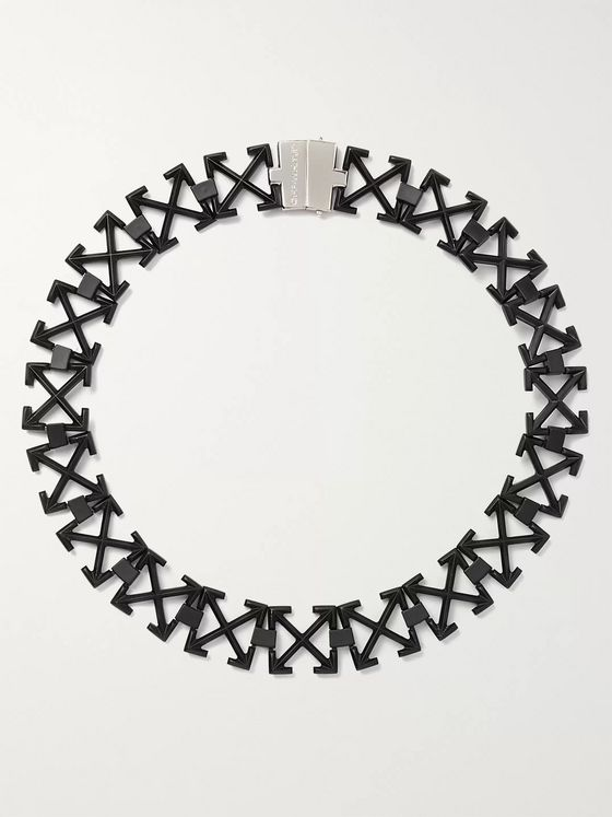 Off-White Arrows Blackened Necklace