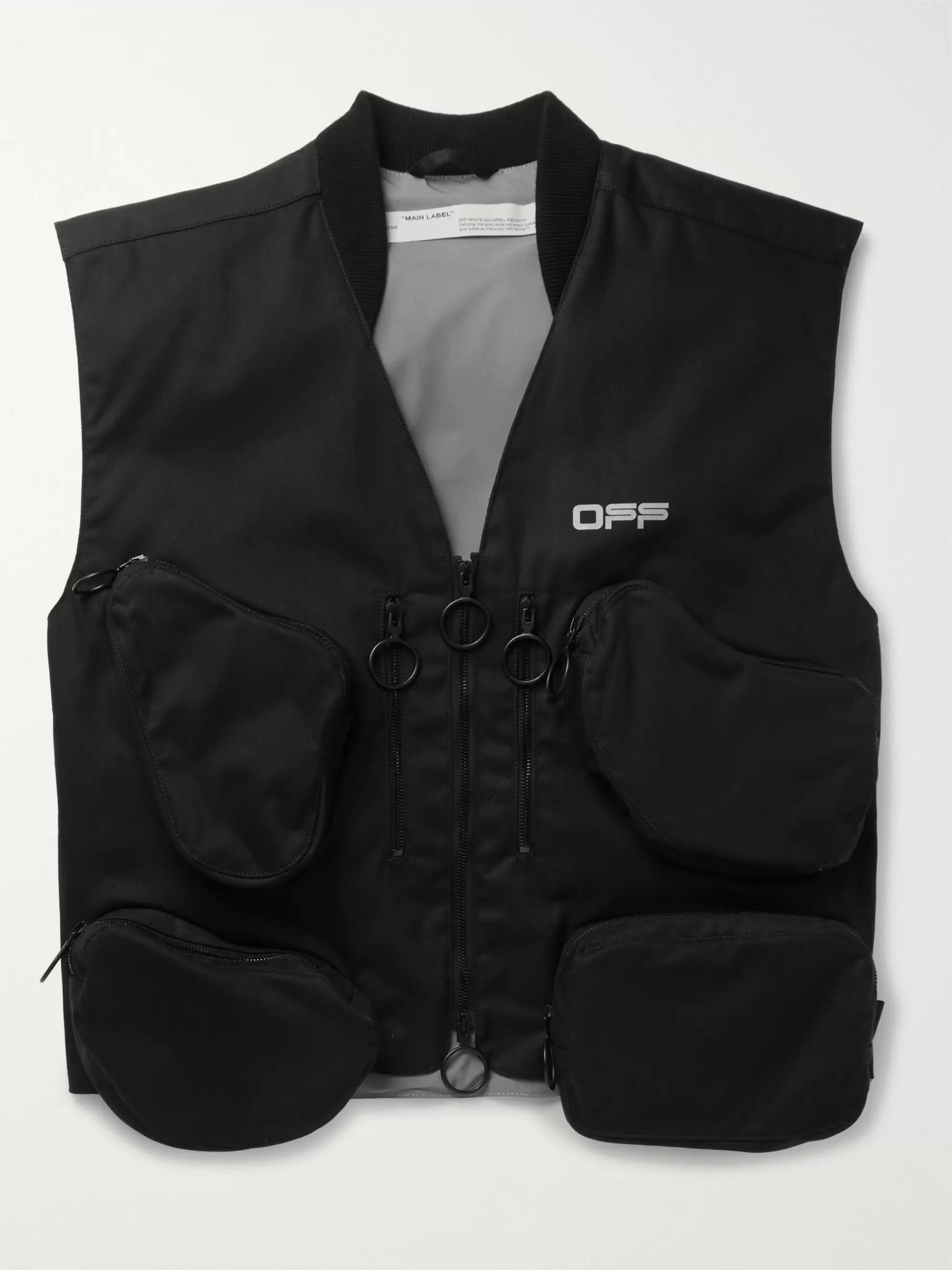 Off-White Logo-Print Cotton-Twill Gilet