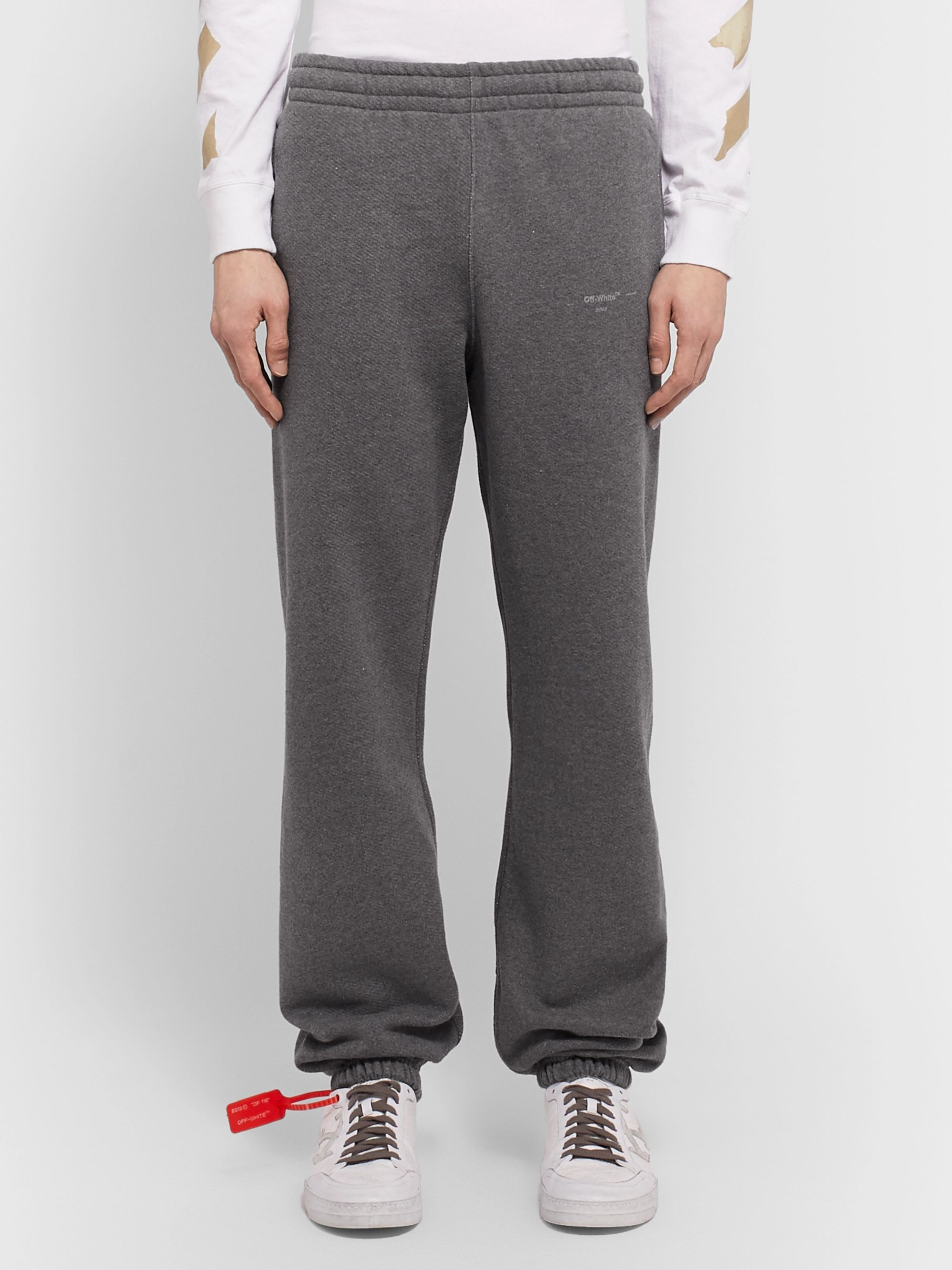 Off-White Logo-Print Loopback Cotton-Jersey Sweatpants