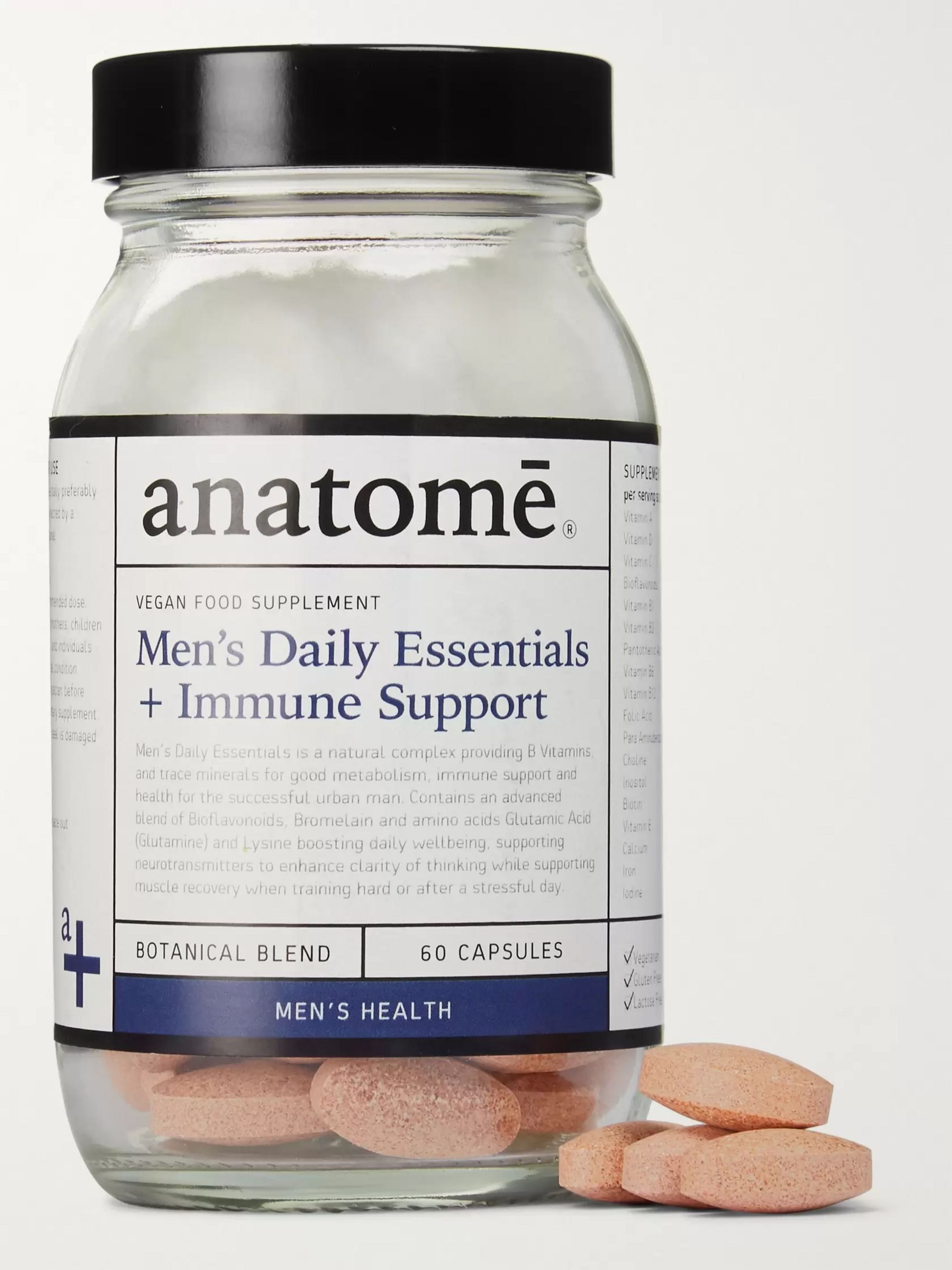 anatomē Men's Daily Essentials + Wellbeing Support Supplement, 60 Tablets
