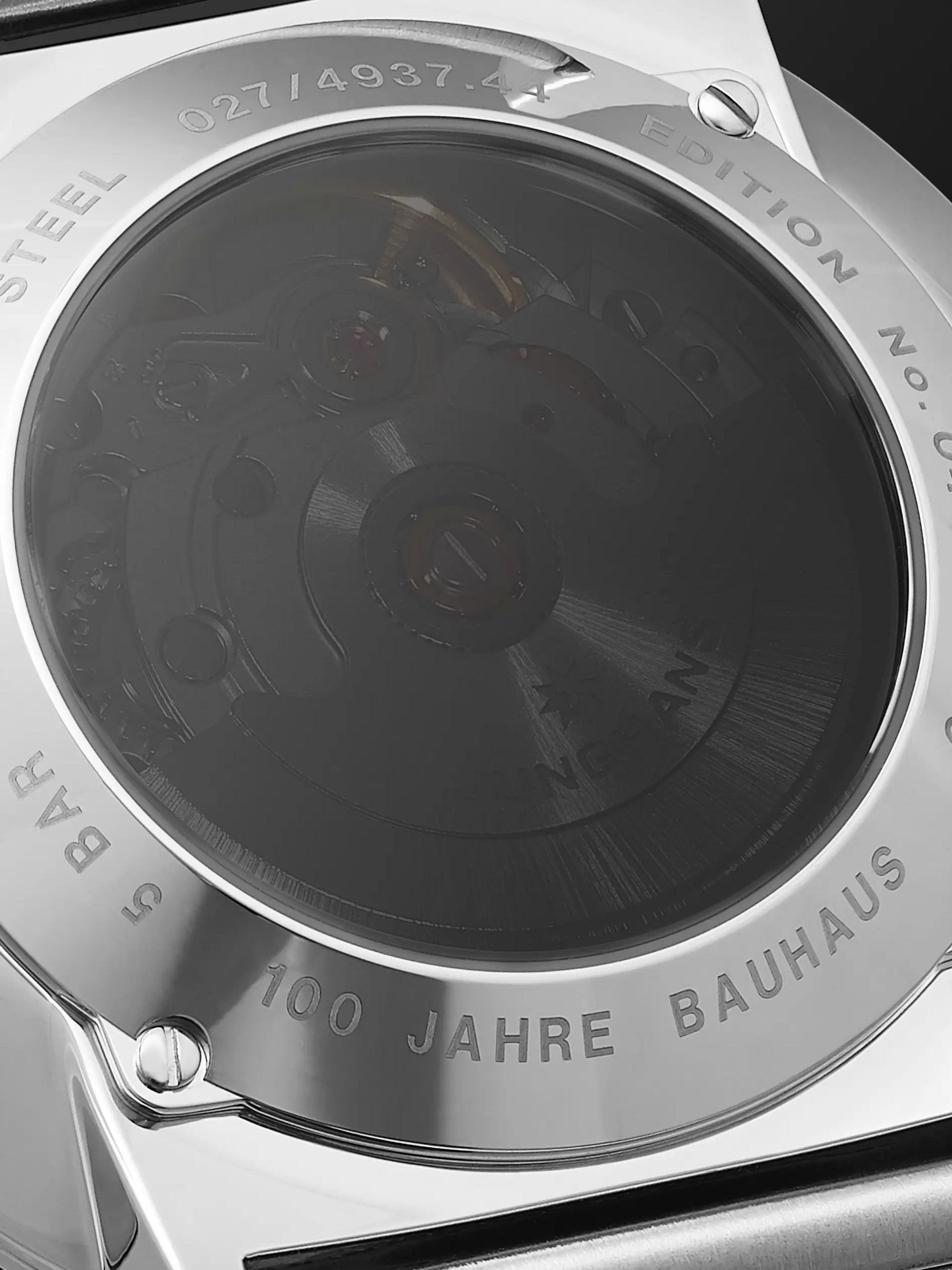 Junghans Limited Edition Form A 100 Jahre Bauhaus Automatic 39.3mm Stainless Steel Watch, Ref. No. 027/4937.44
