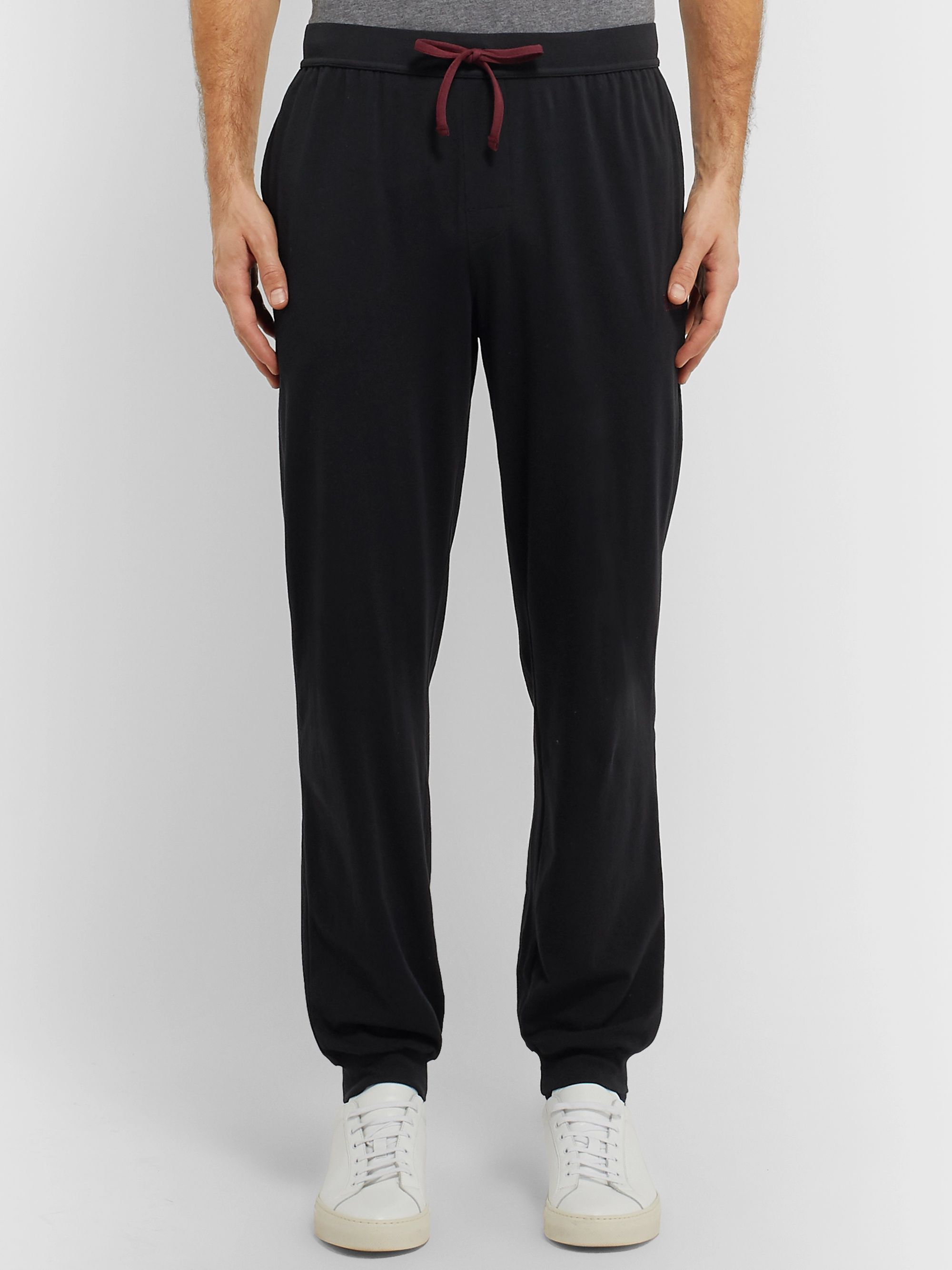 Hugo Boss Tapered Stretch-Cotton Jersey Sweatpants