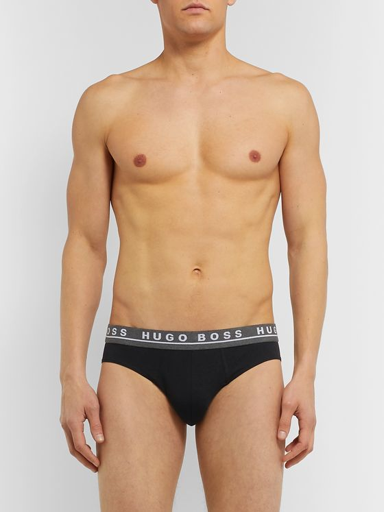 Hugo Boss Three-Pack Stretch-Cotton Briefs