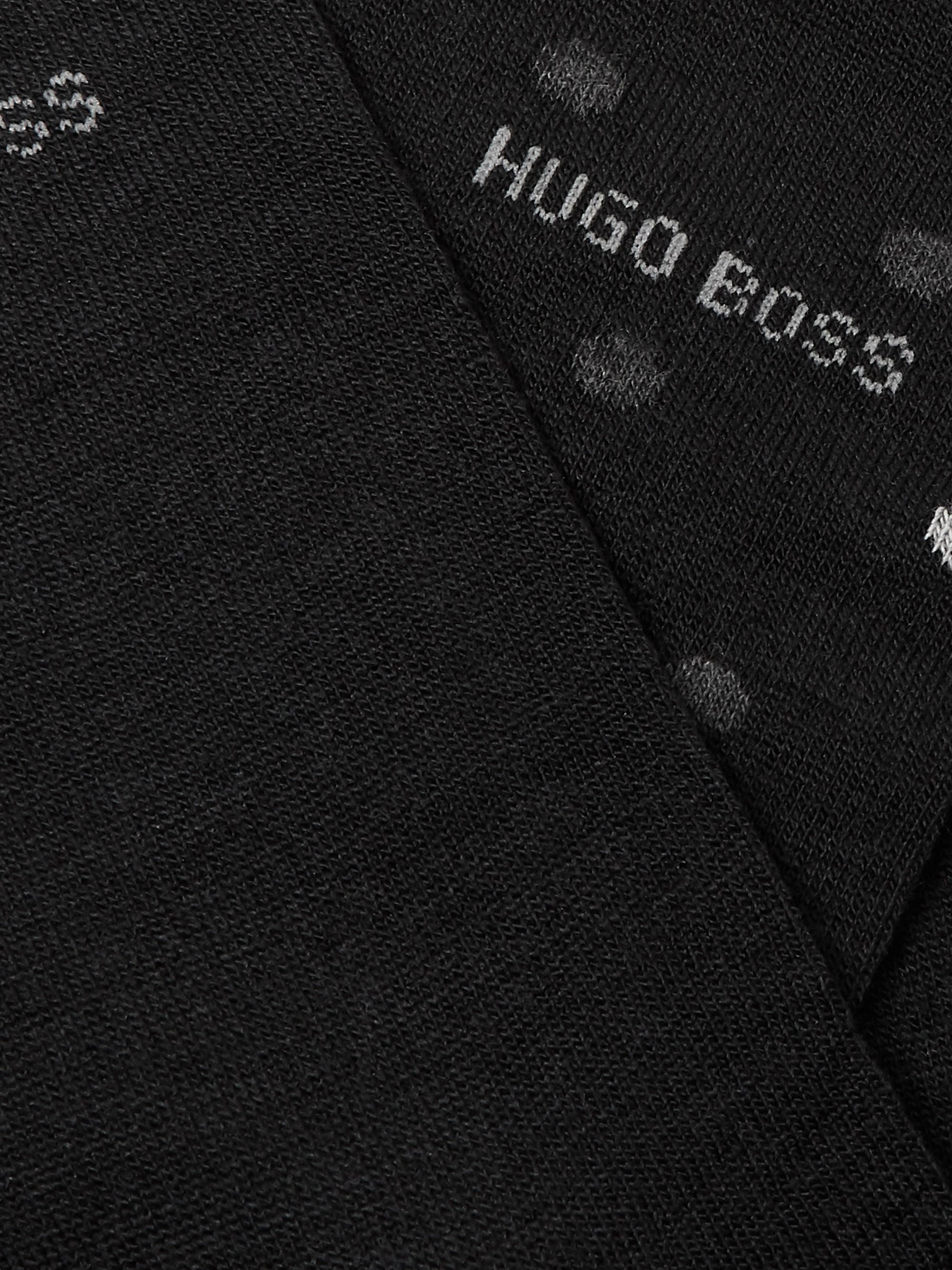 Hugo Boss Two-Pack Stretch Merino Wool-Blend Socks