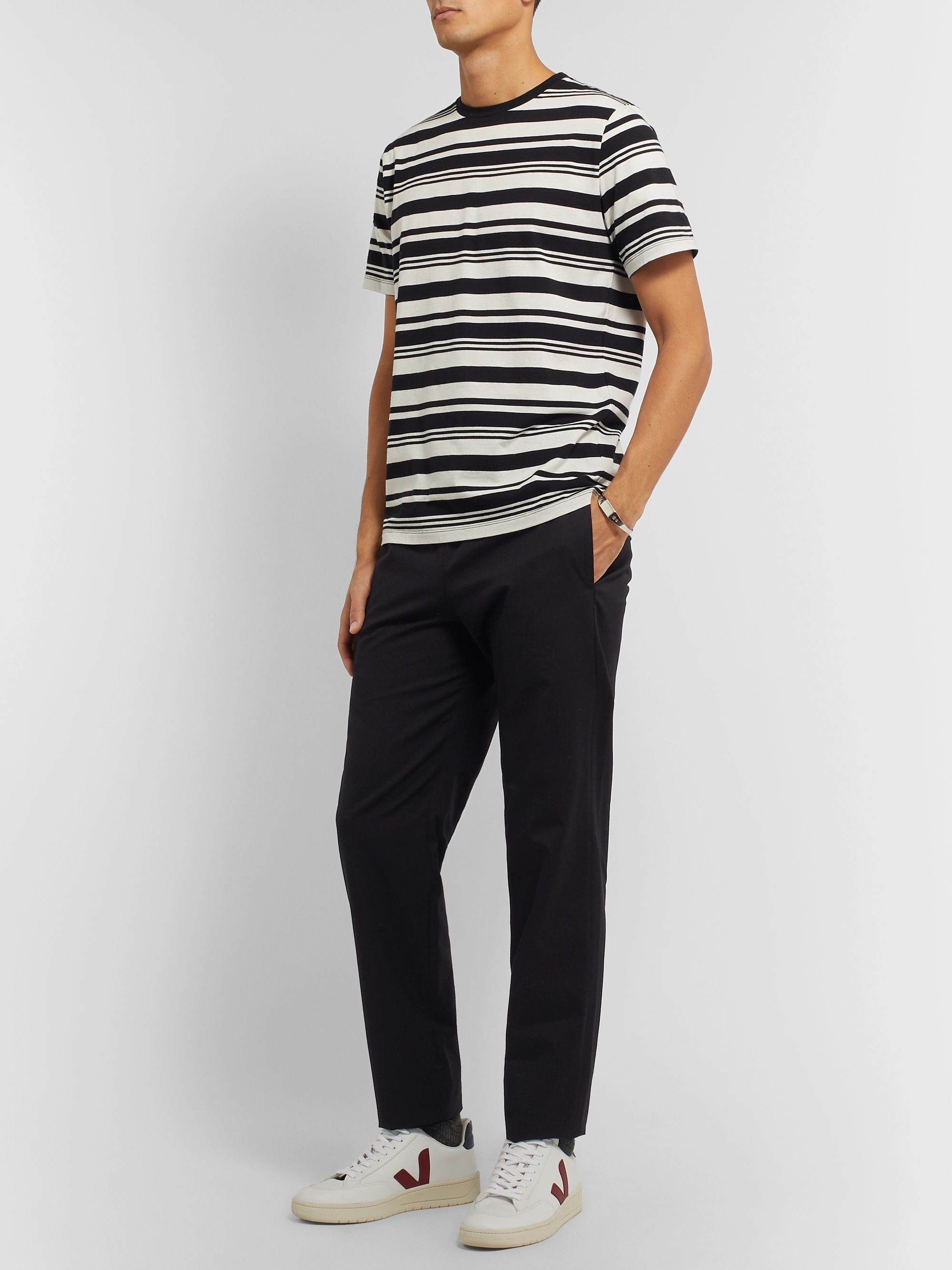 A.P.C. Yves Striped Cotton-Jersey T-Shirt