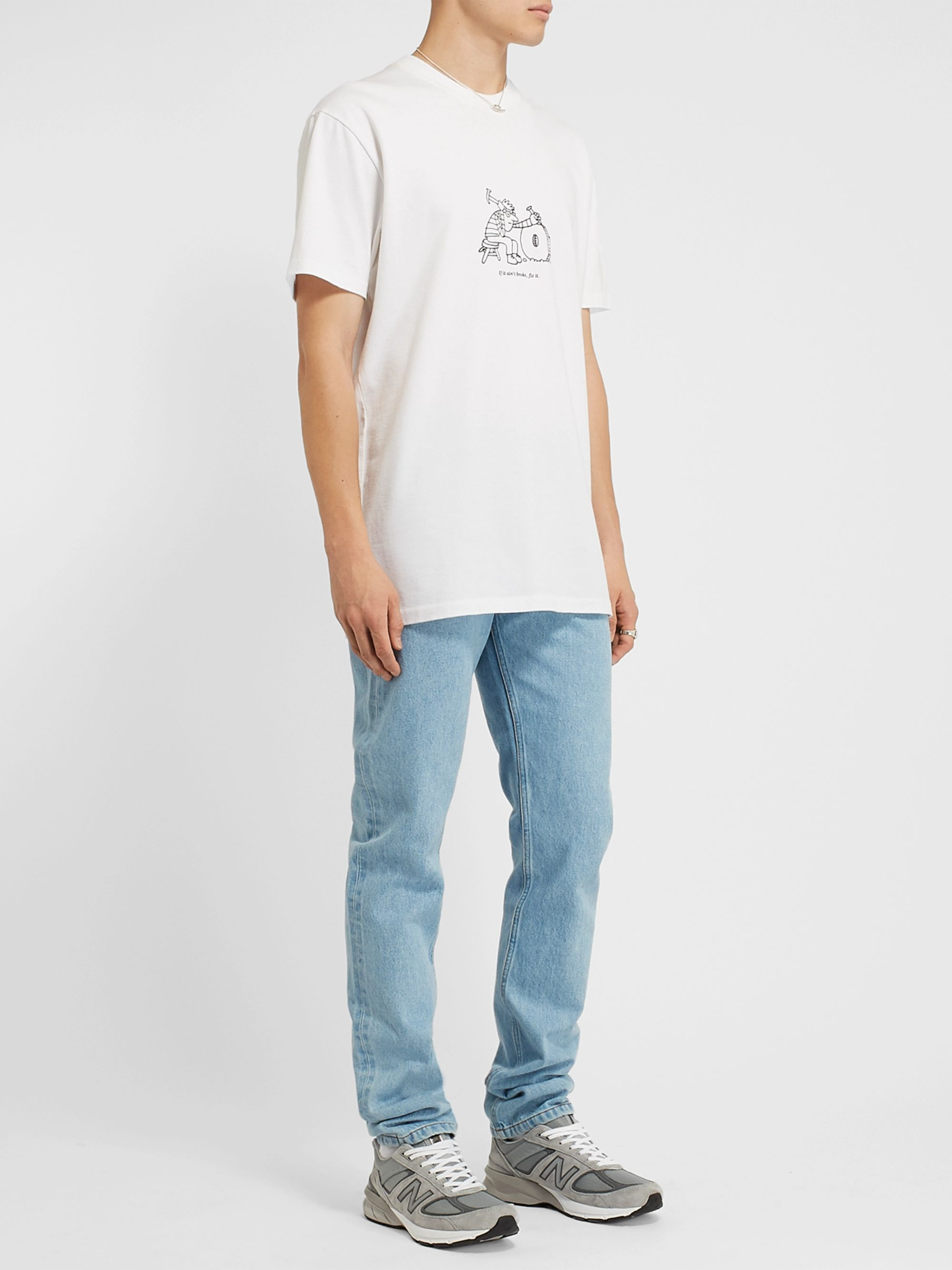 A.P.C. + JJJJound Petit Standard Slim-Fit Embellished Denim Jeans